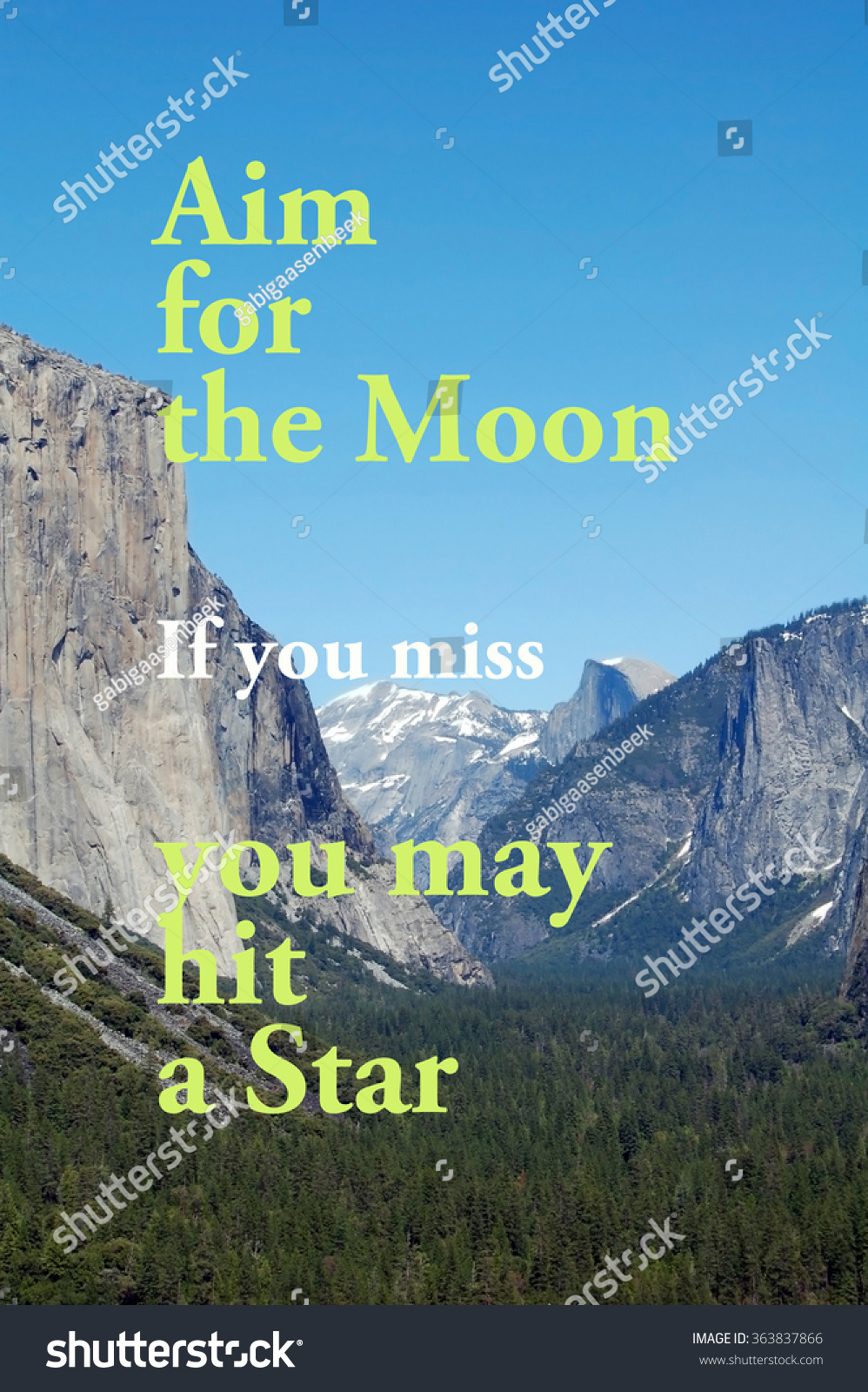 Aim Moon Quote Stock Photo Edit Now 363837866 Shutterstock