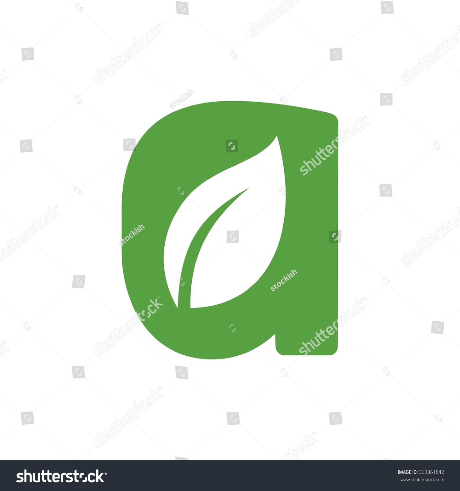 Letter leaf symbol logo vector stock vector 363861842 shutterstock letter a with leaf symbol logo vector biocorpaavc Gallery