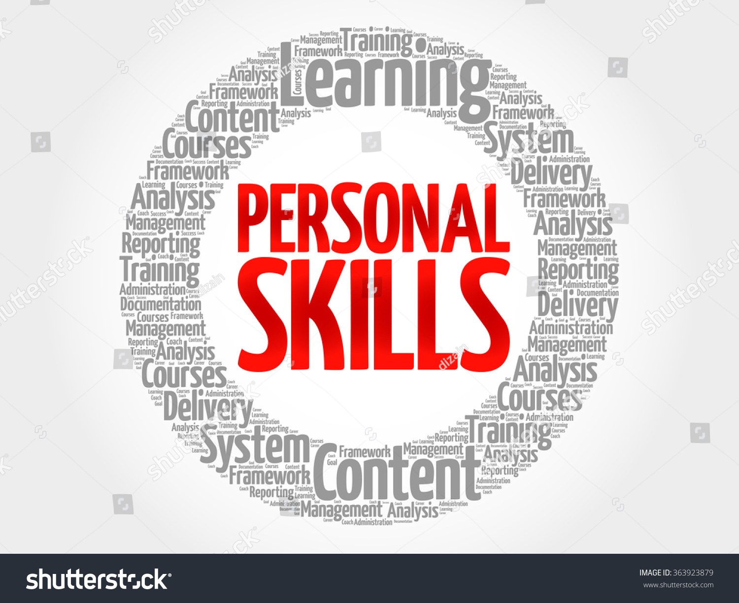 personal skills circle word cloud business stock vector 363923879 personal skills circle word cloud business concept
