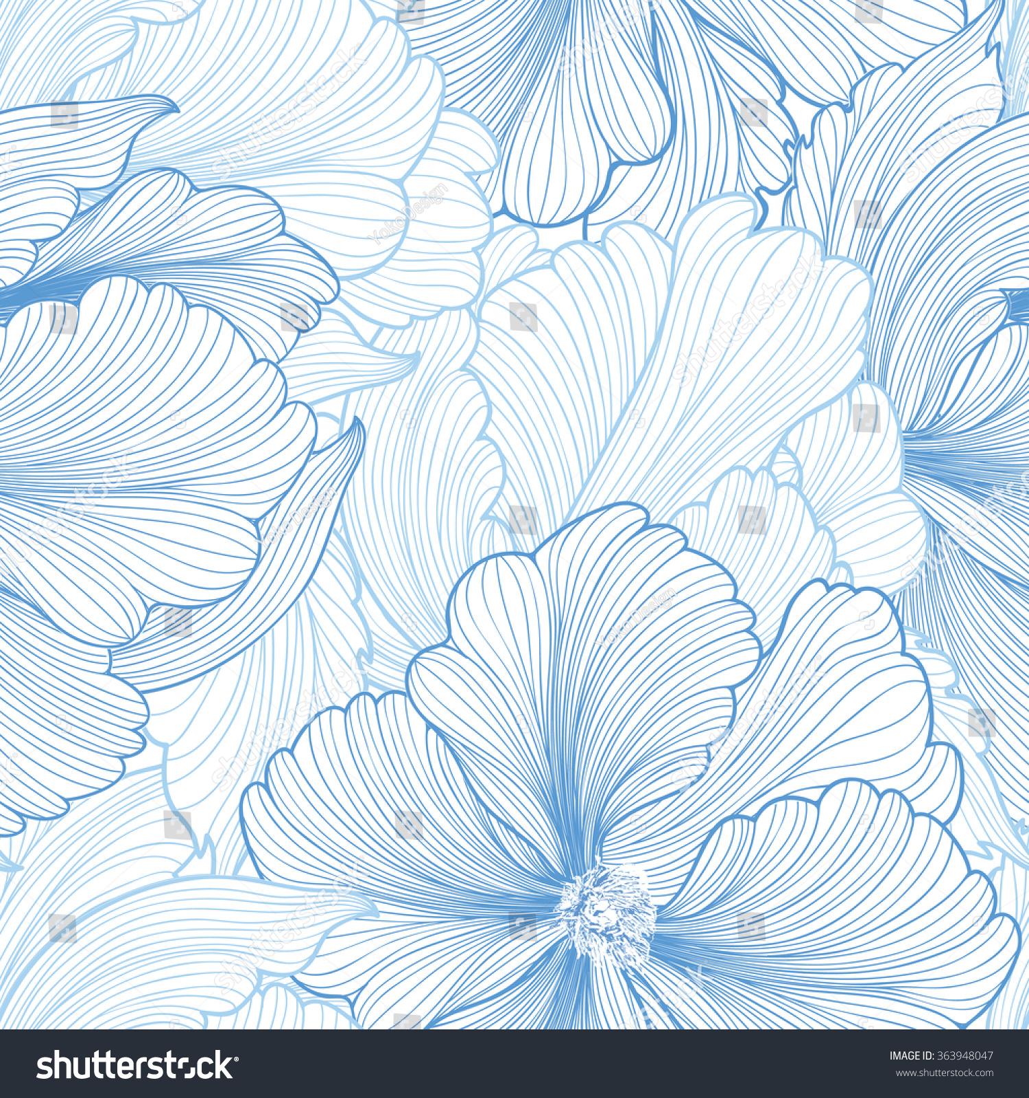 Floral Seamless Background Vector Pattern Beautiful 363948047