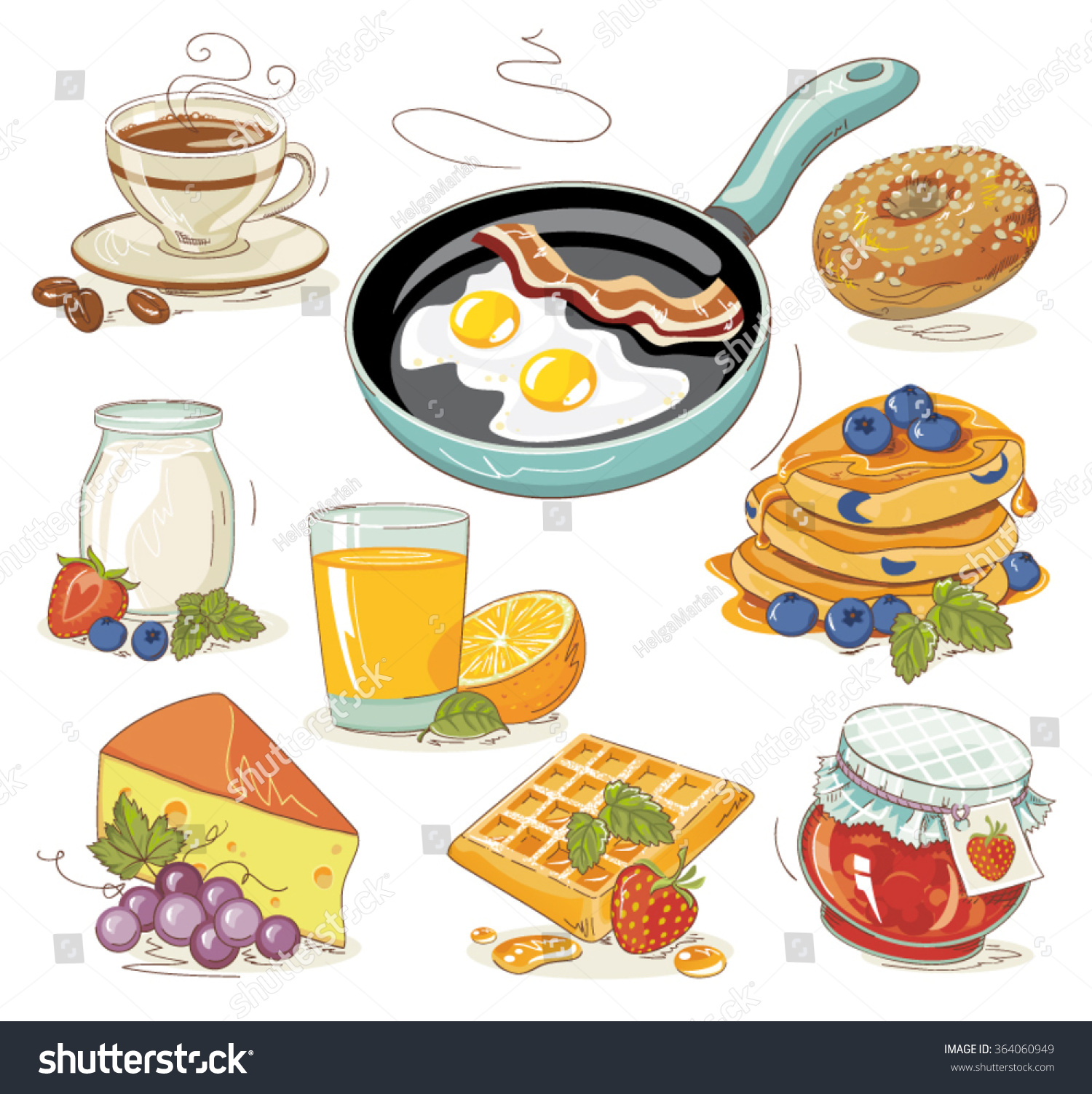 breakfast menu clipart - photo #27