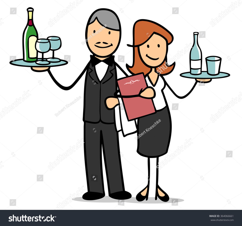 Waiter Cartoons Stock Images RoyaltyFree Images