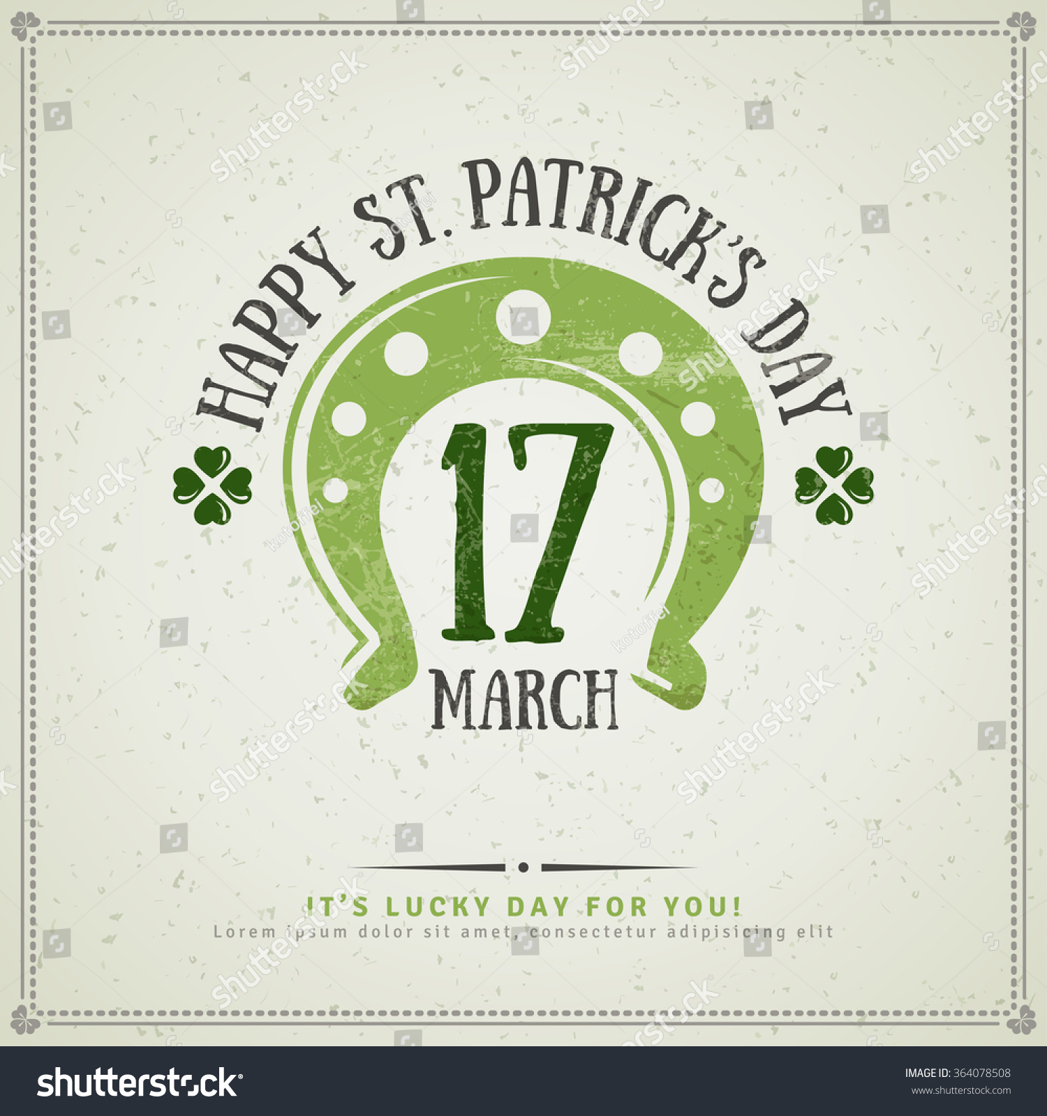 Happy st patricks day greeting card stock vector 364078508 for Irish menu templates