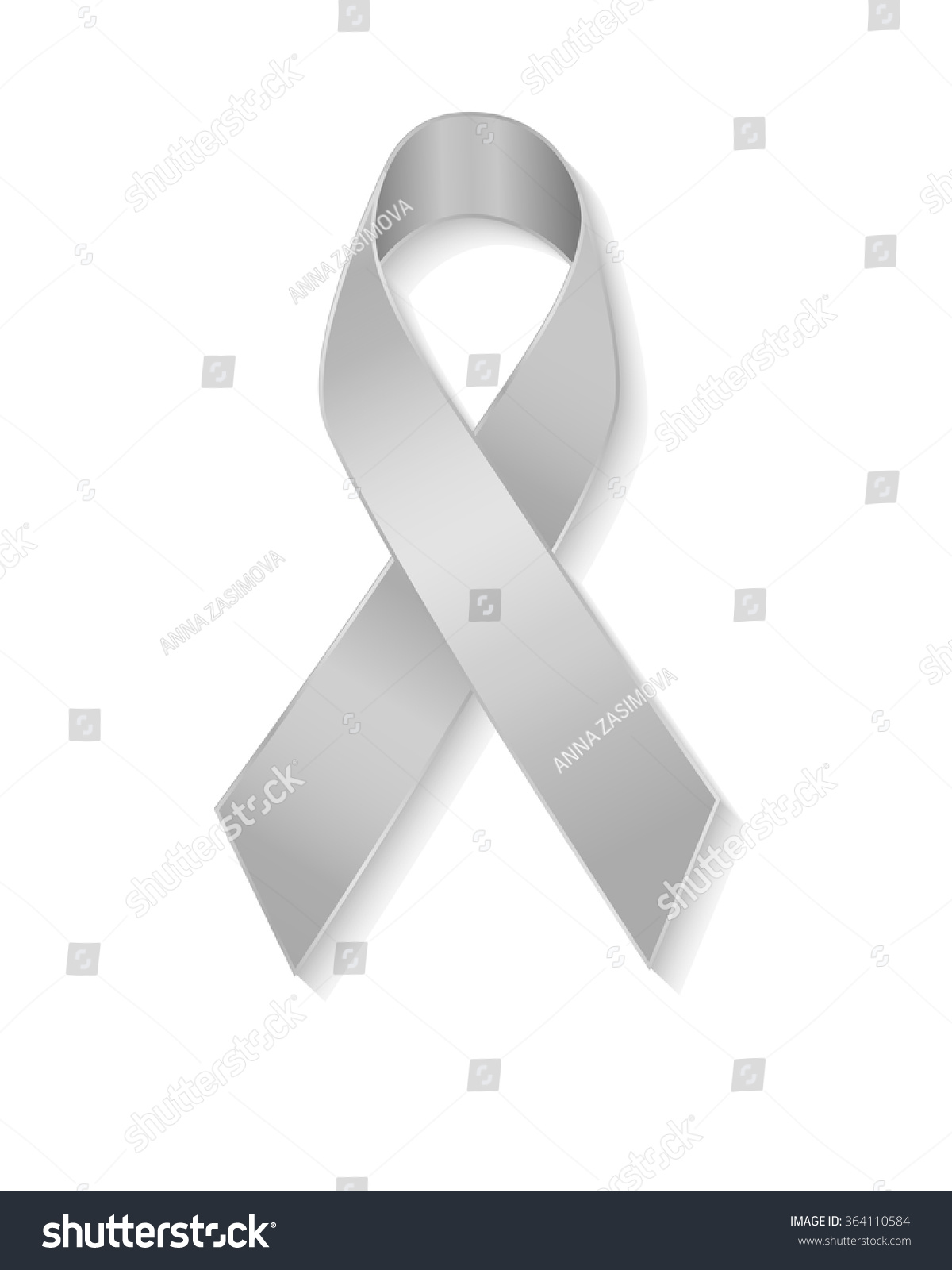 Grey ribbon symbol borderline personality disorder stock vector grey ribbon as symbol of borderline personality disorder diabetes asthma and brain cancer awareness biocorpaavc Image collections