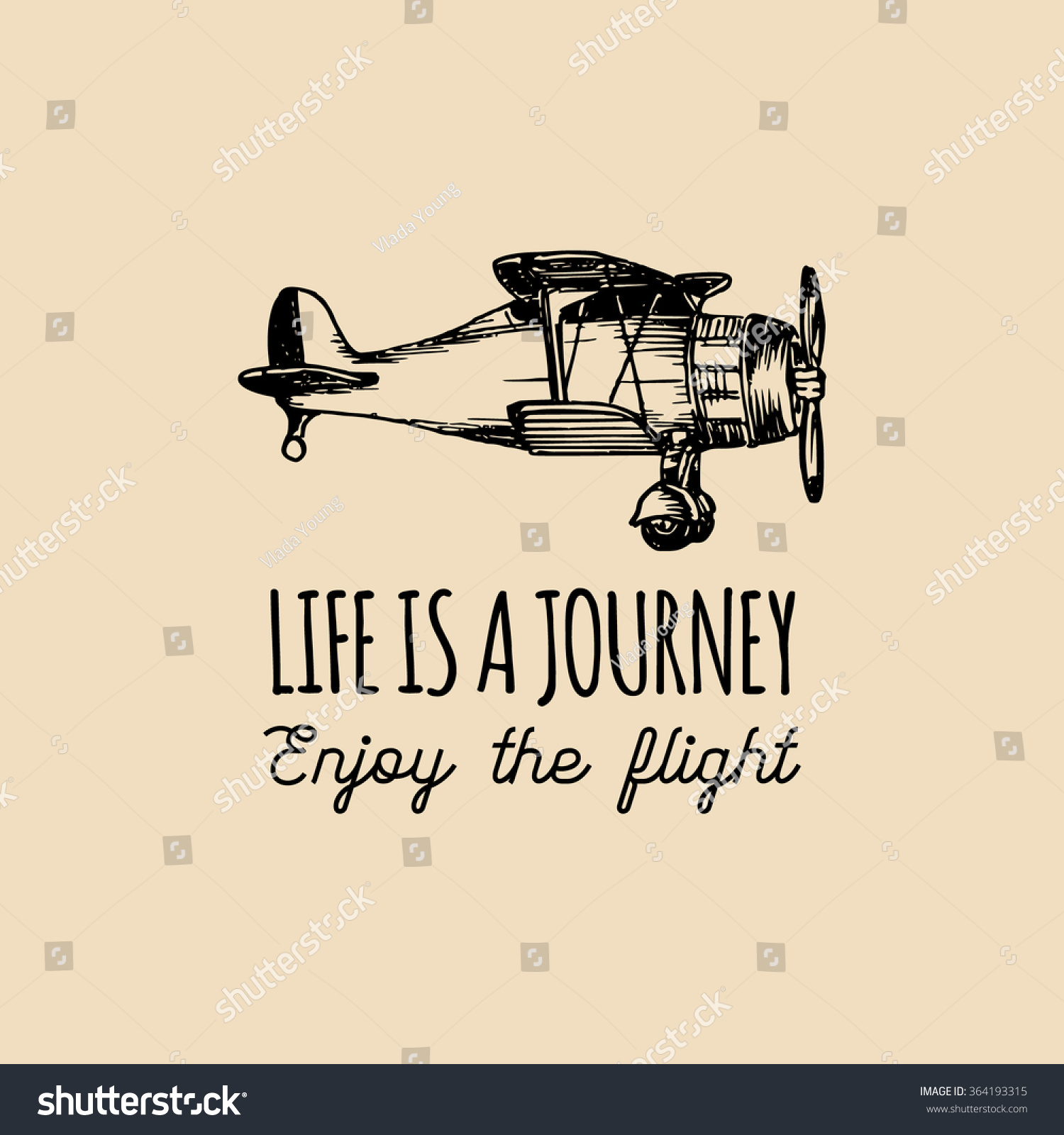 Motivational Inspirational Quotes: Life Journey Enjoy Flight Motivational Quote Vectores En