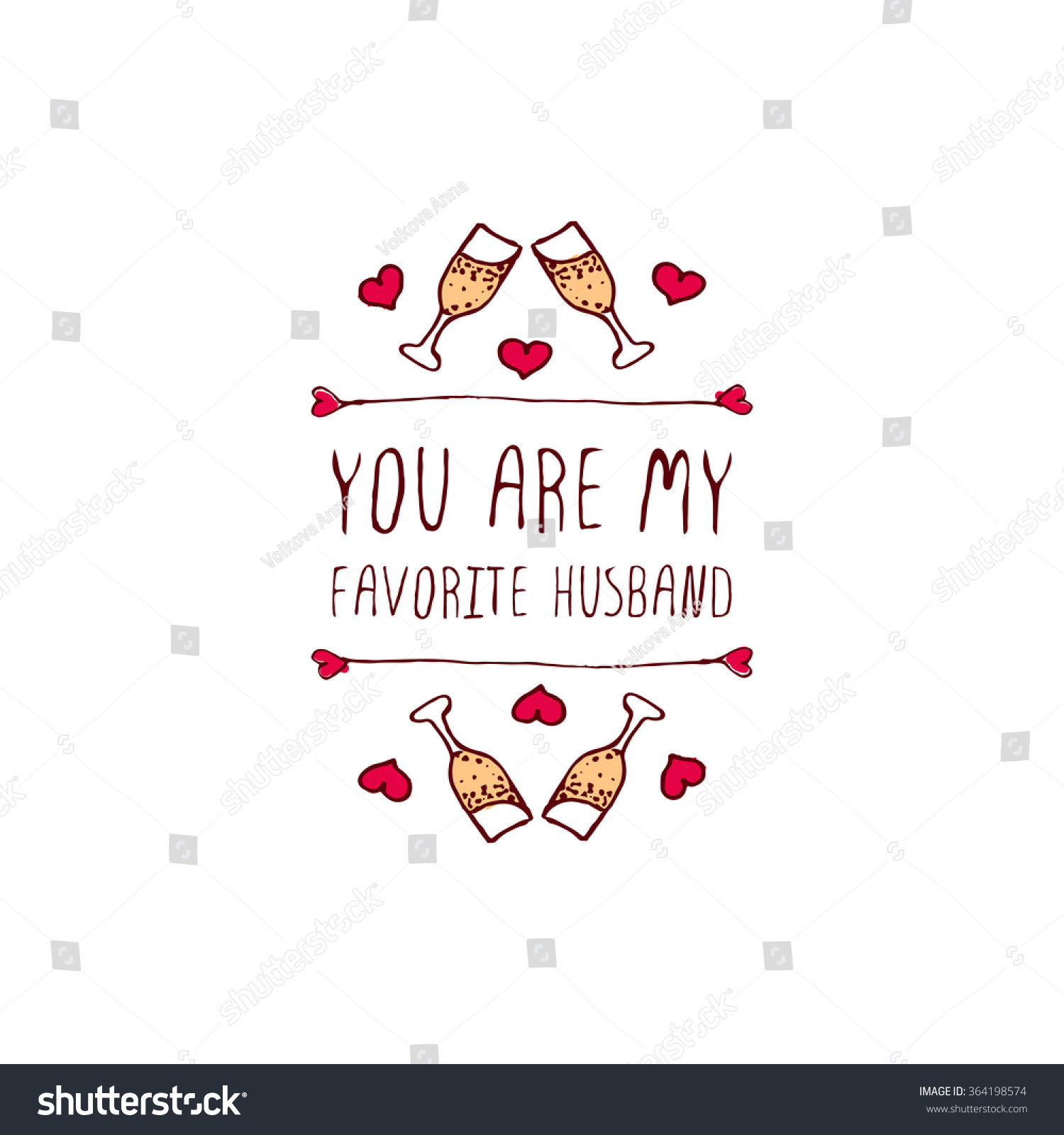 Saint Valentines Day Greeting Card You Stock Vector 364198574
