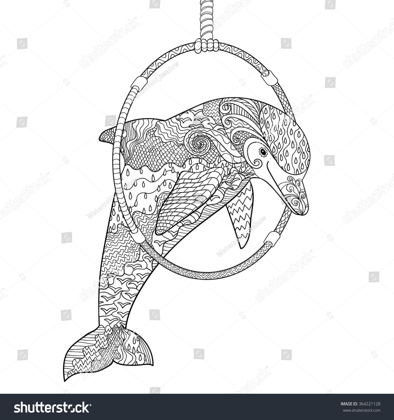 happy dolphin high details antistress stock vector 364221128