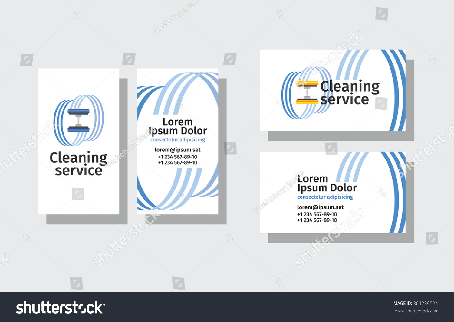 Set Business Cards Cleaning Service Stock Vector HD (Royalty Free ...
