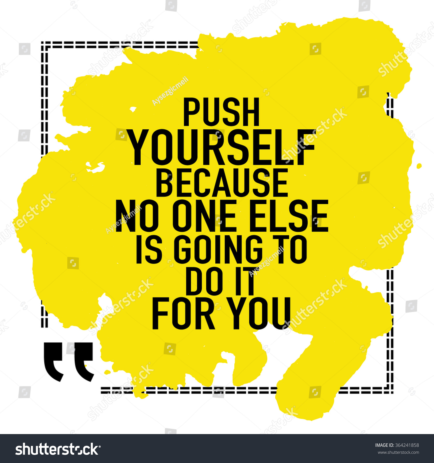 Motivational Quote Poster Push Yourself Because Stock Vector