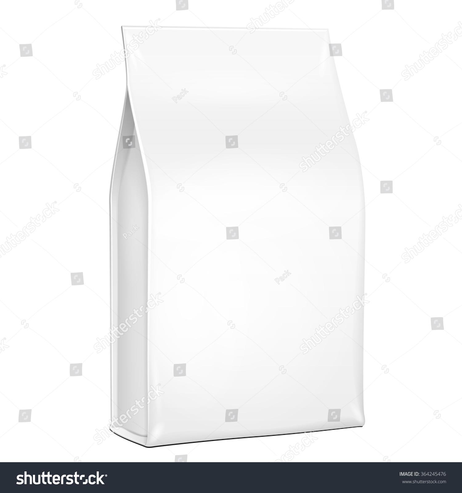 white plastic foil paper food bag stock vector 364245476 shutterstock. Black Bedroom Furniture Sets. Home Design Ideas