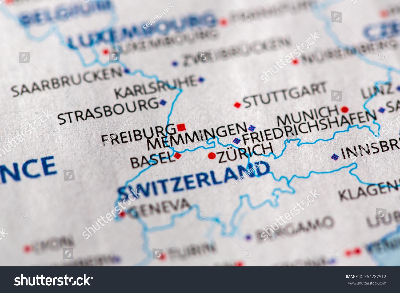 Map Of Germany Memmingen.Closeup Of Memmingen Germany On A Stock Photo 364287512 Avopix Com