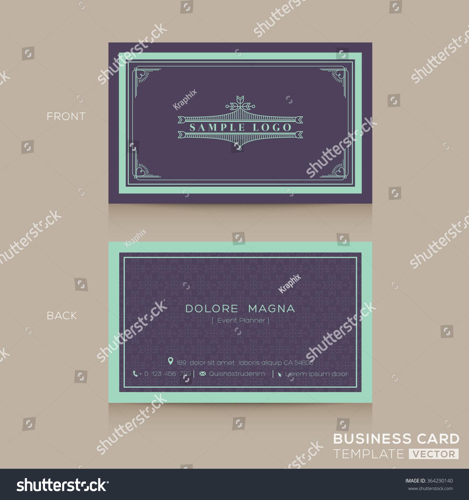 Classic vintage business card namecard design stock vector classic vintage business card namecard design template magicingreecefo Gallery