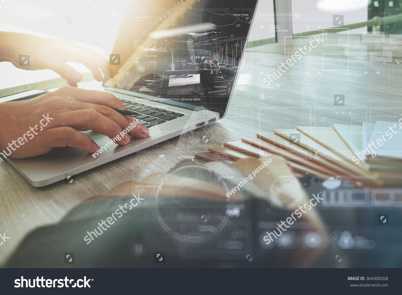 Interior Designer Hand Working New Modern Stock Photo 364300268 Shutterstock