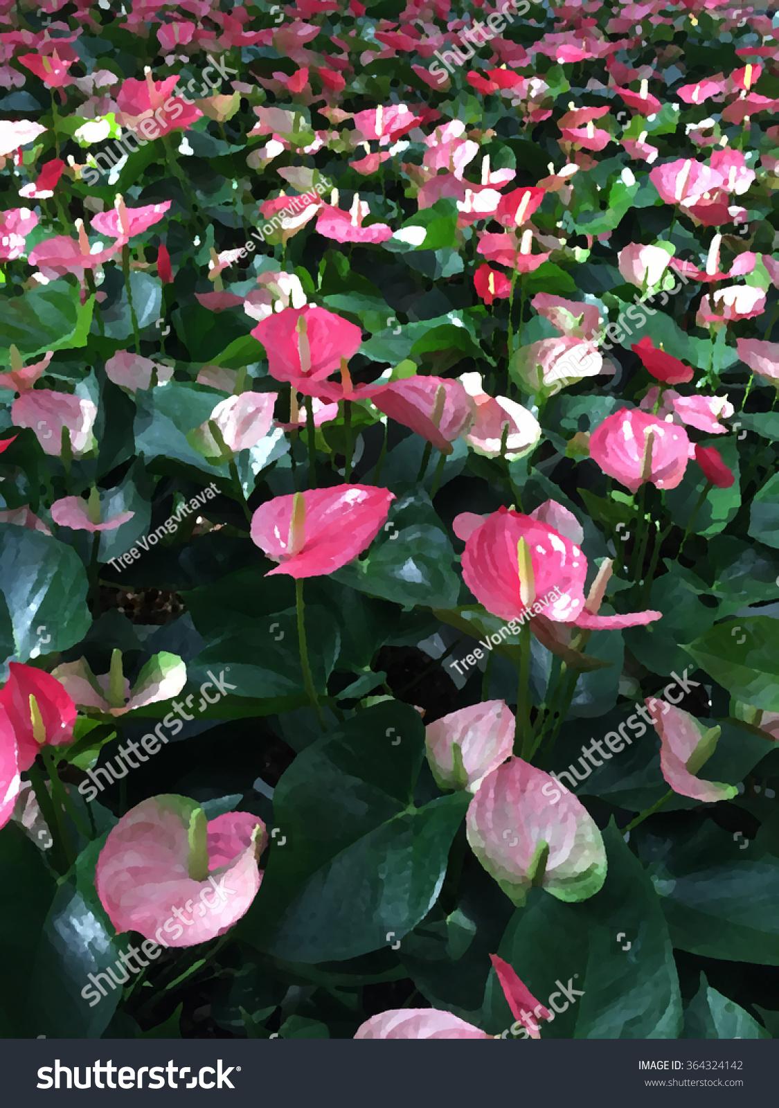 Royalty Free Stock Illustration Of Pink Flamingo Flower Background