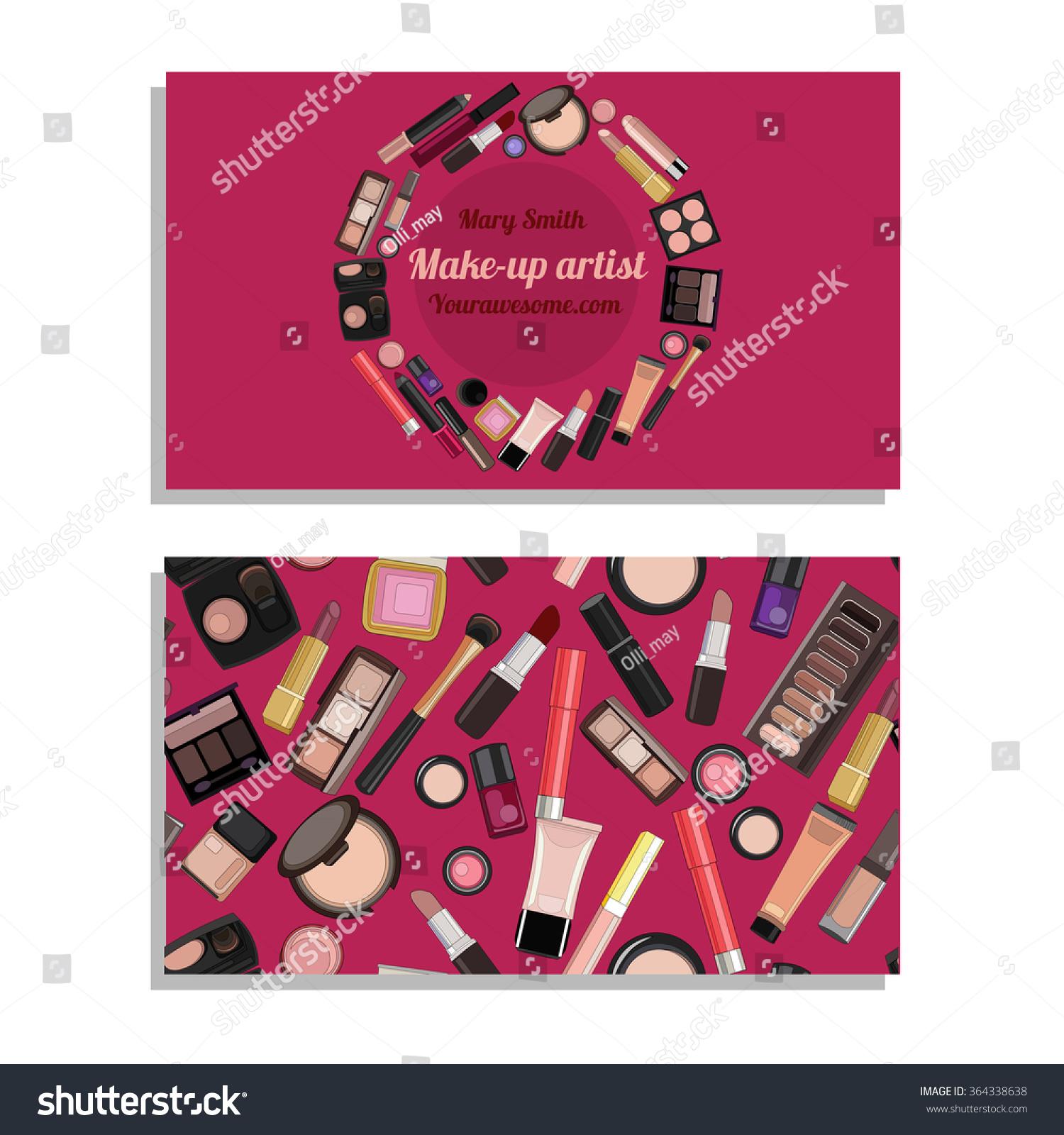 Makeup Artist Business Card Vector Template Stock Vector HD (Royalty ...