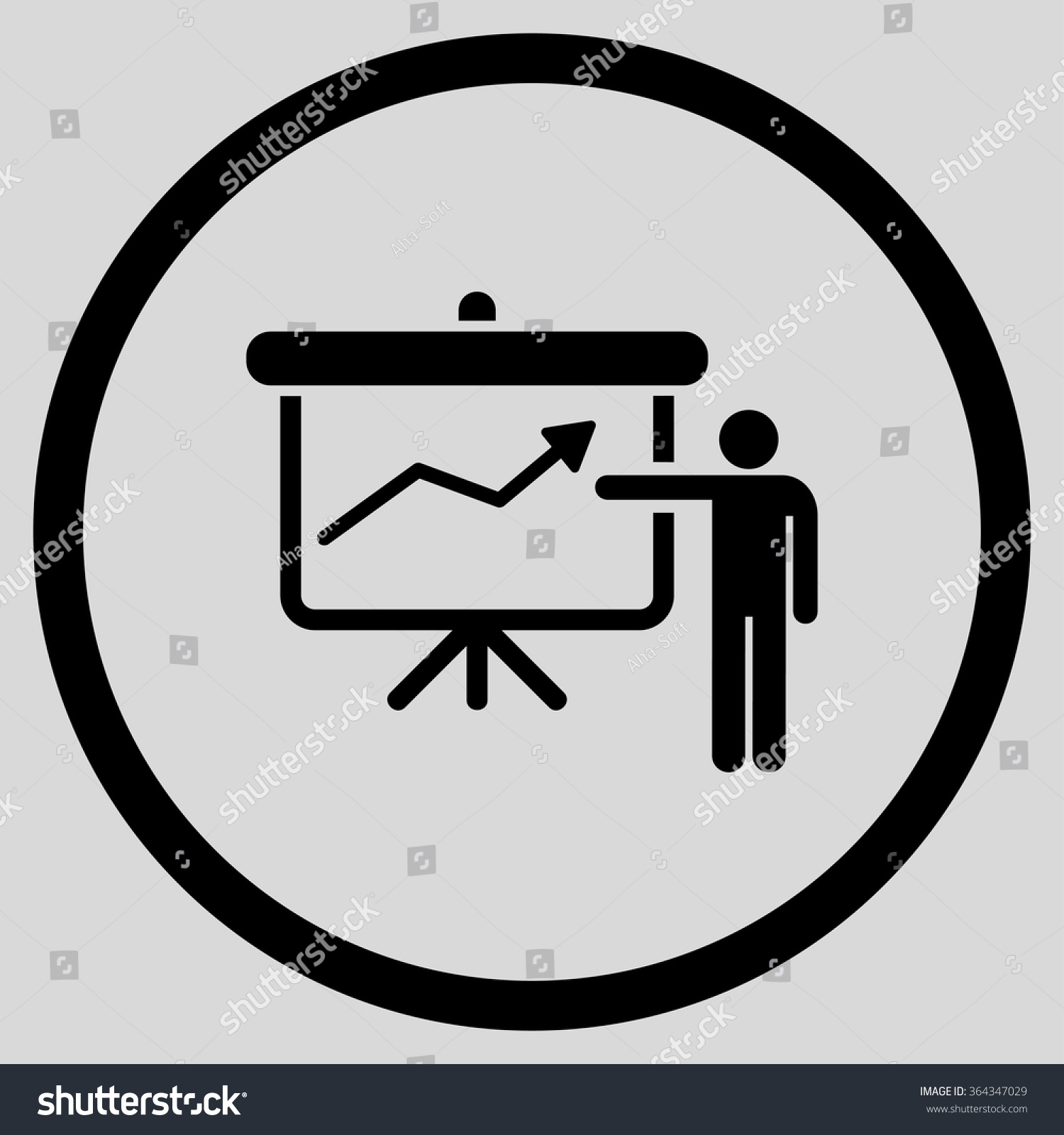 Project Presentation Vector Icon Style Flat Vector 364347029 – Project Presentation