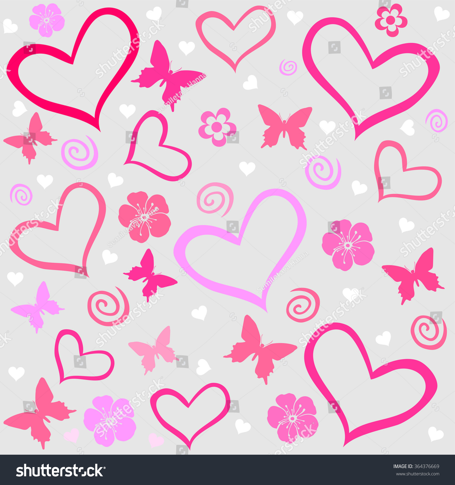 Background Wallpaper Hearts Vector Illustration Stock Vector ...