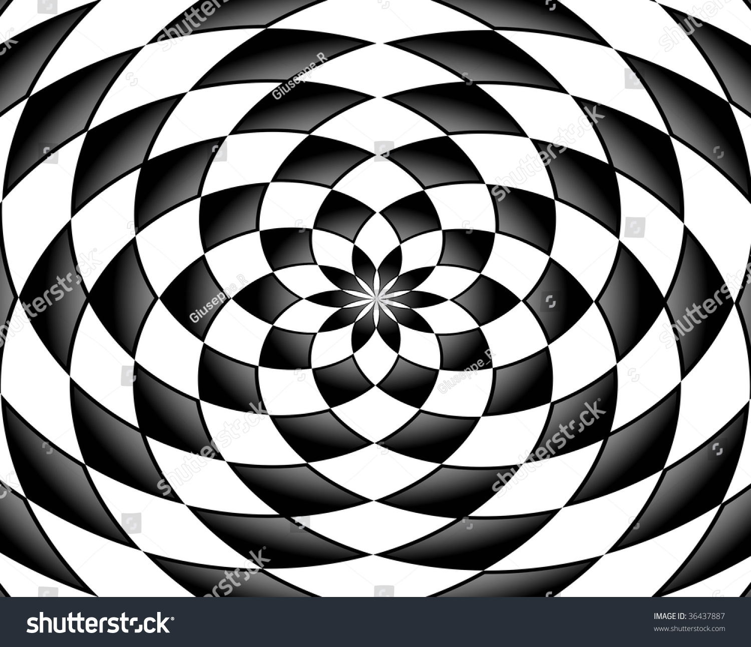 black and white abstract shapes round effect stock photo 36437887 shutterstock. Black Bedroom Furniture Sets. Home Design Ideas