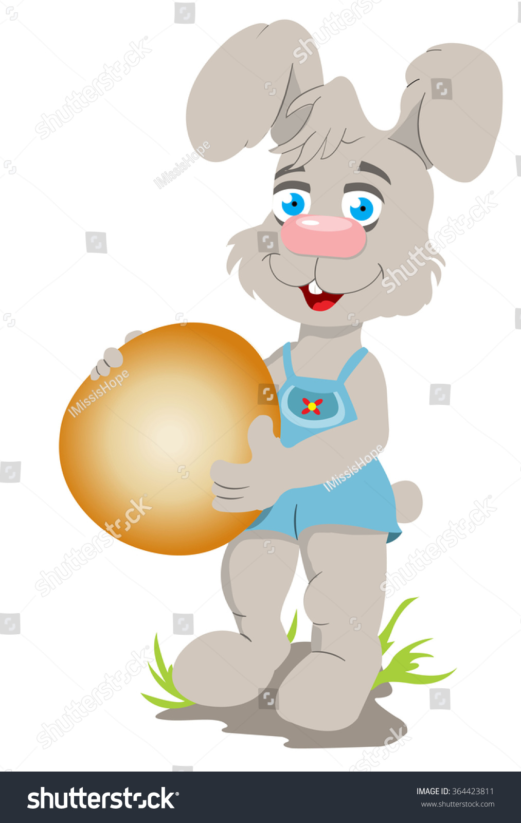 easter bunny stock vector 364423811 shutterstock