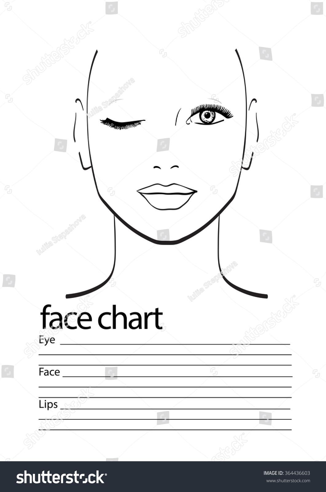 Makeup Template Face Chart face chart makeup artist blank. template ...