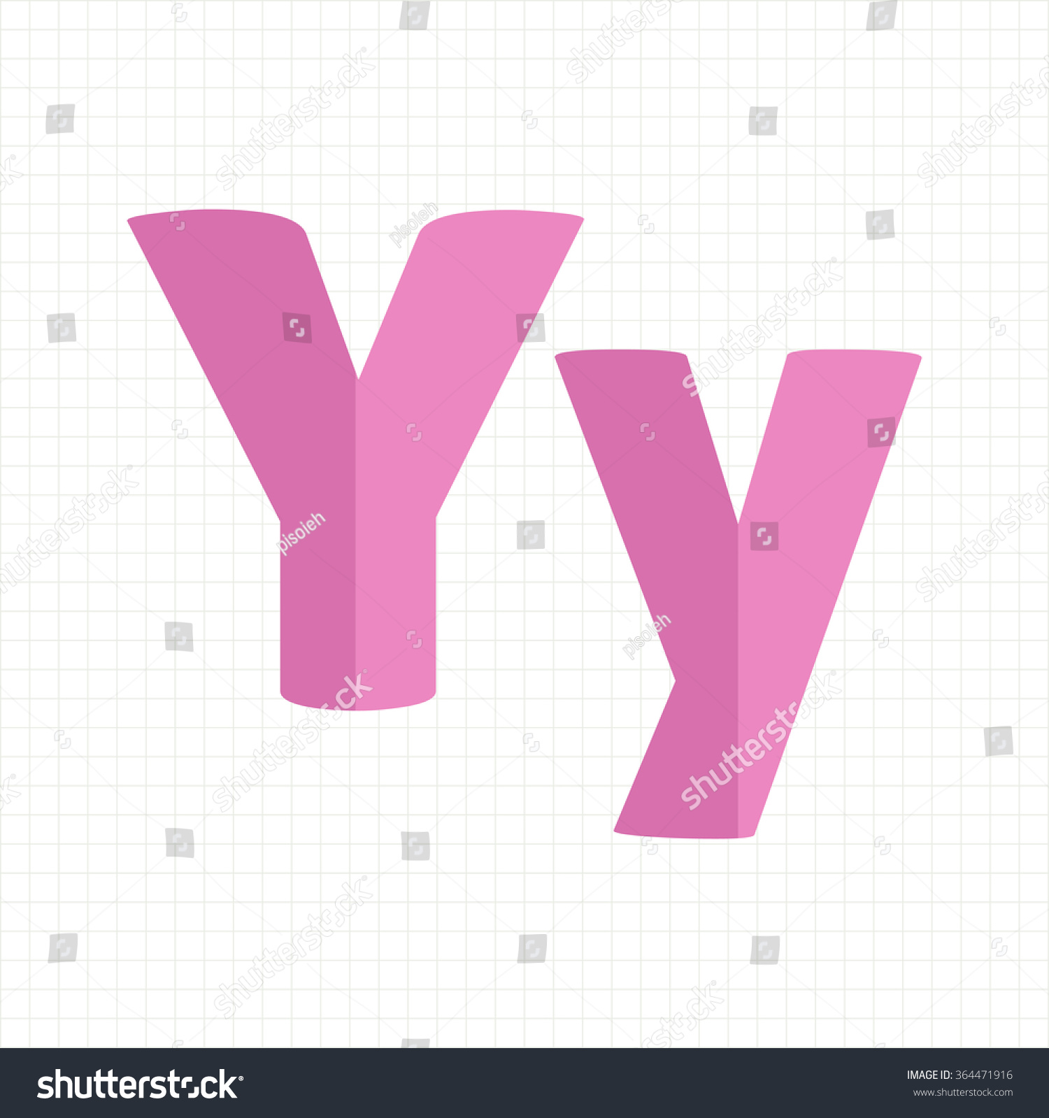Pink Color Alphabet Letters Y Stock Vector (Royalty Free) 364471916 ...