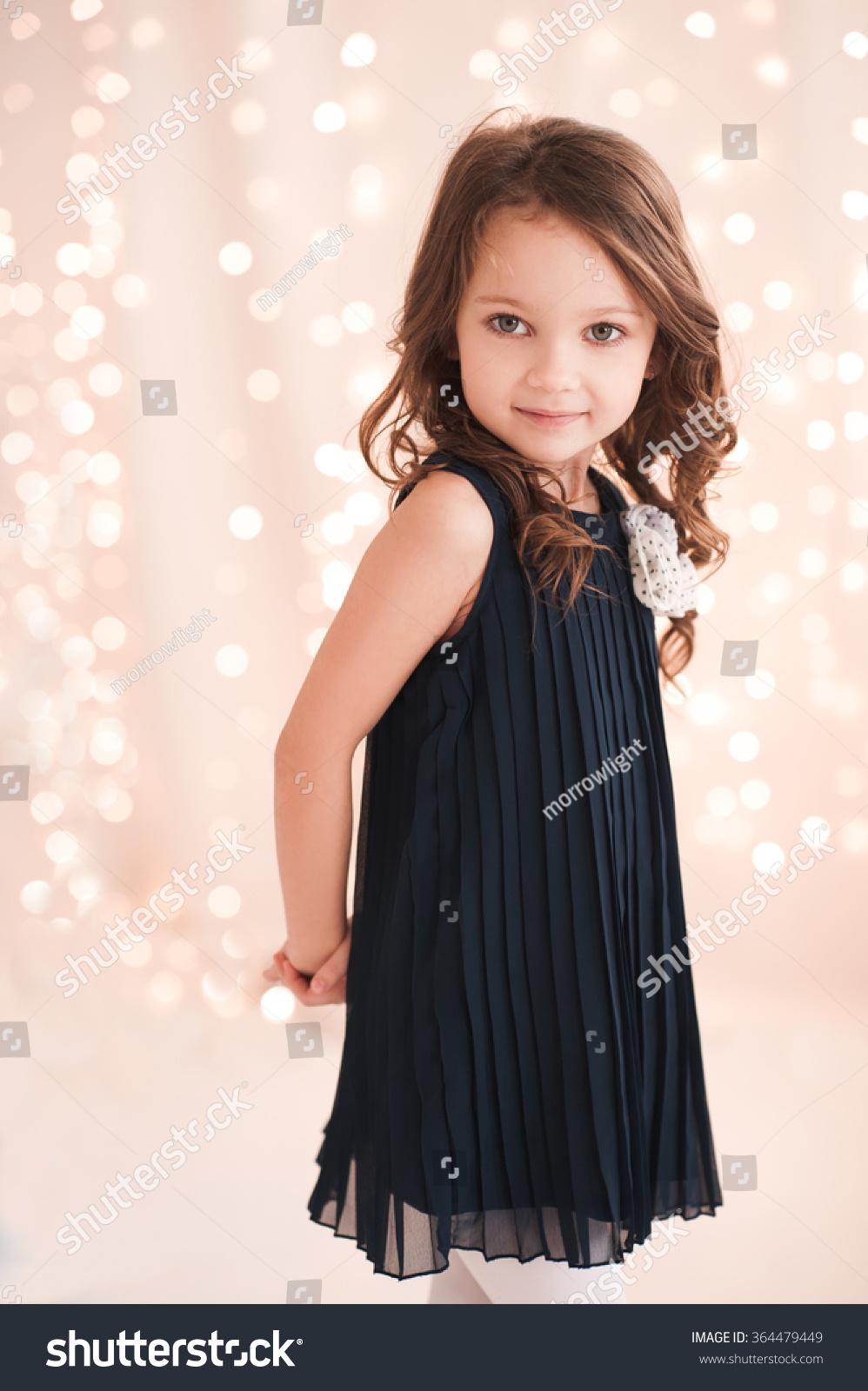 Cute baby girl 5-6 year old wearing… Stock Photo 364479449 ...  Cute baby girl ...