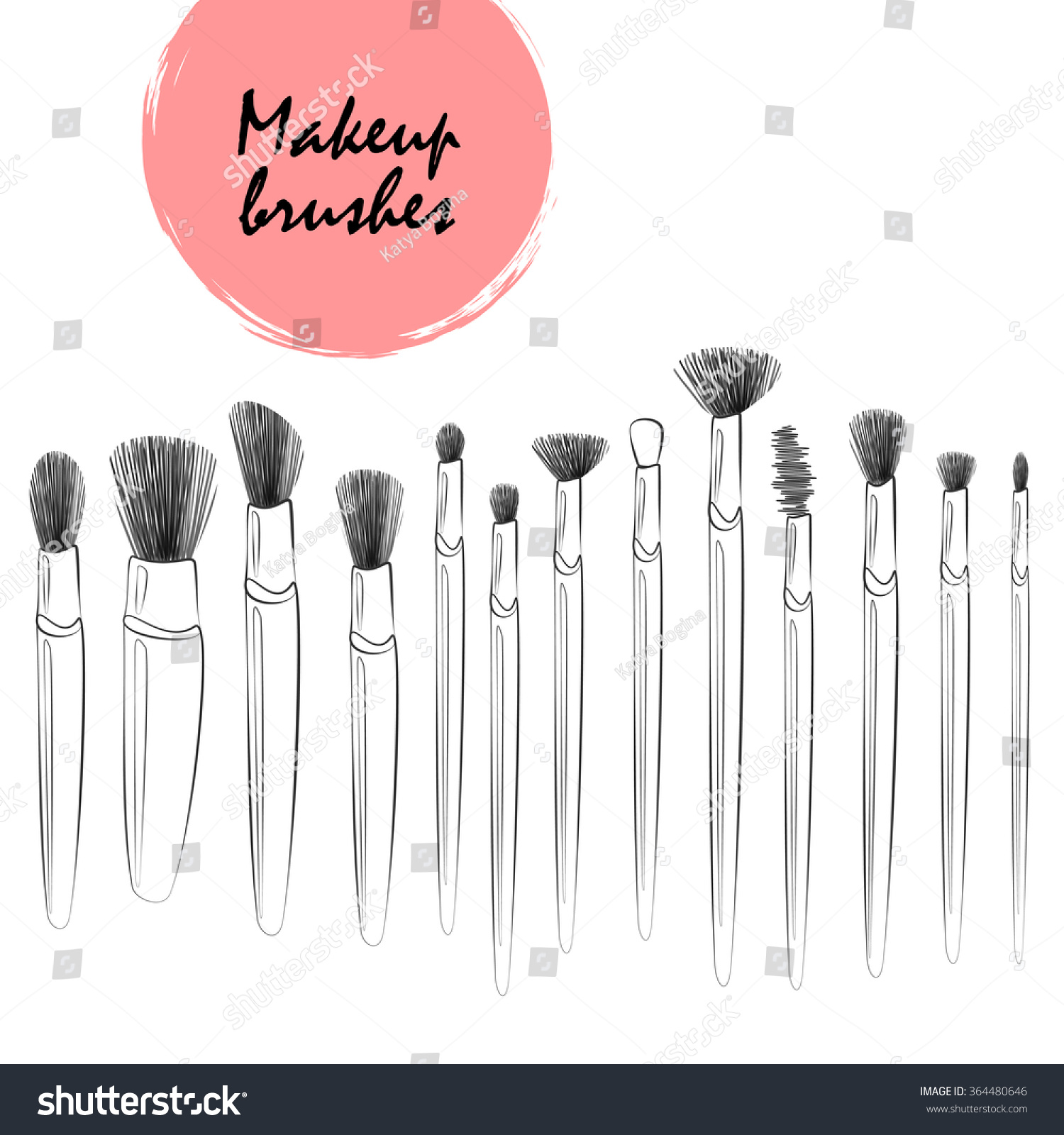 Drawing Straight Lines With Brush In Photo : Makeup tools vector pixshark images galleries
