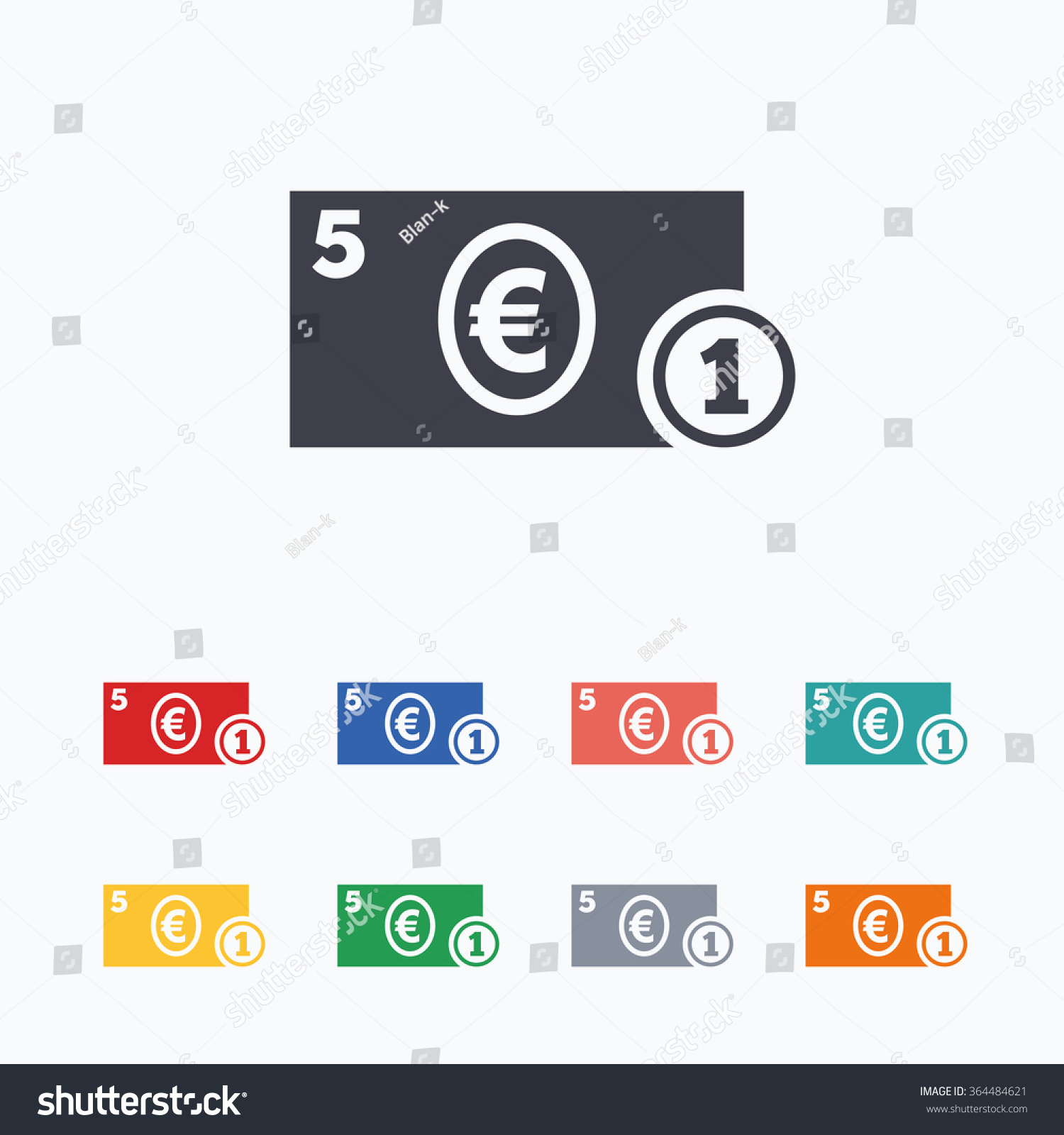 Cash sign icon euro money symbol stock vector 364484621 shutterstock cash sign icon euro money symbol eur coin and paper money colored flat buycottarizona Gallery