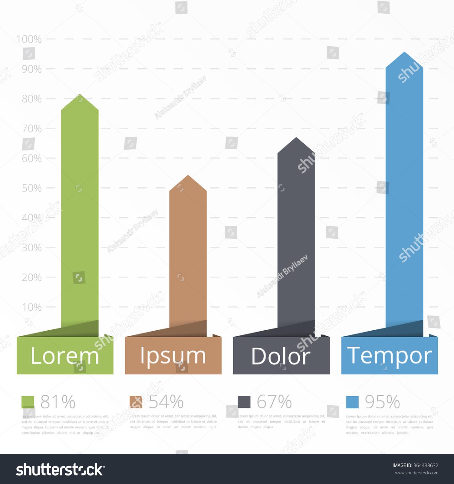 Bar Chart Template   Bar Chart Template Vertical Bars Showing Stock Vector Royalty Free