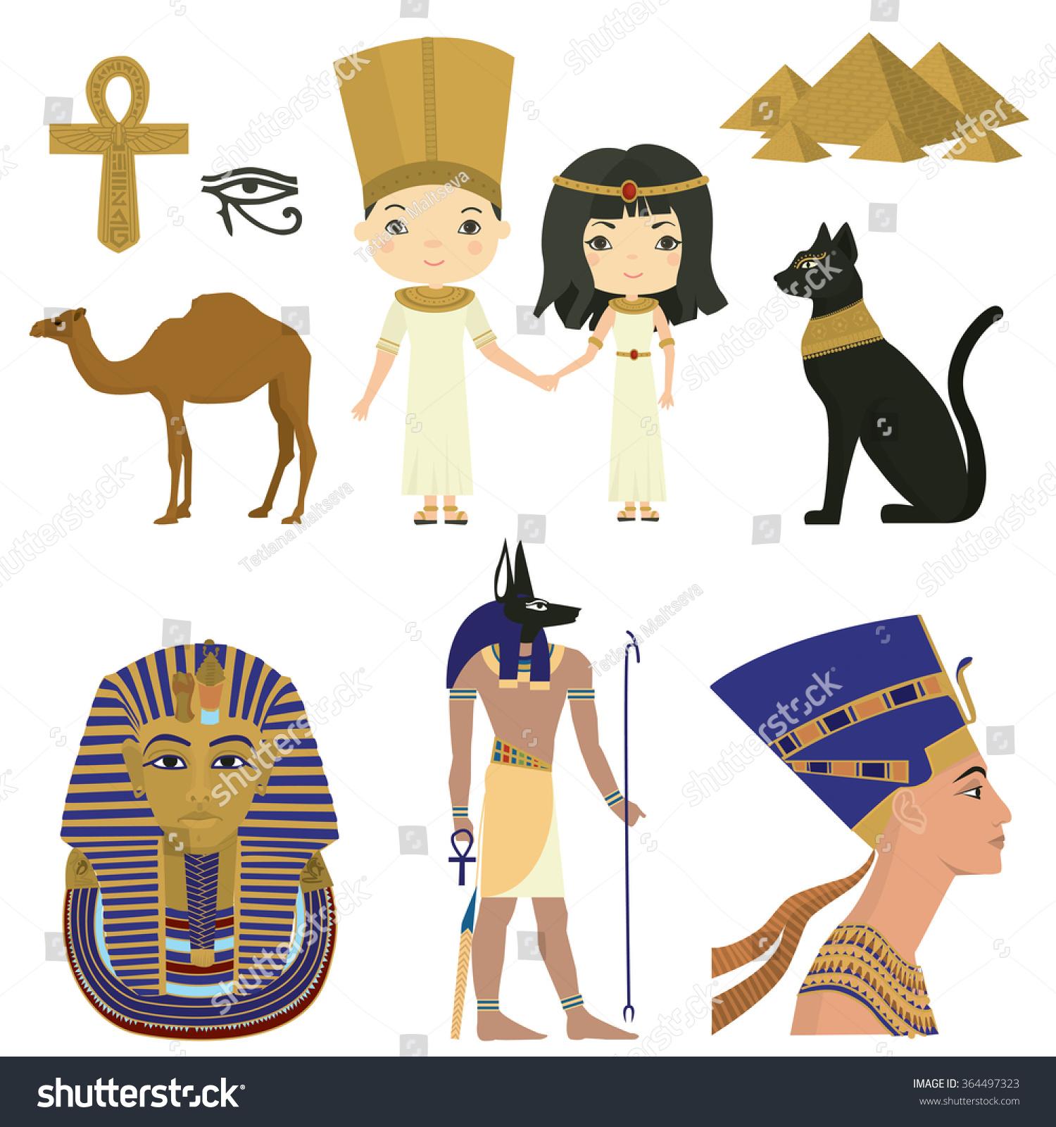 Symbols Egyptian Culture Egypt Vector Set Stock Vector 364497323 ...