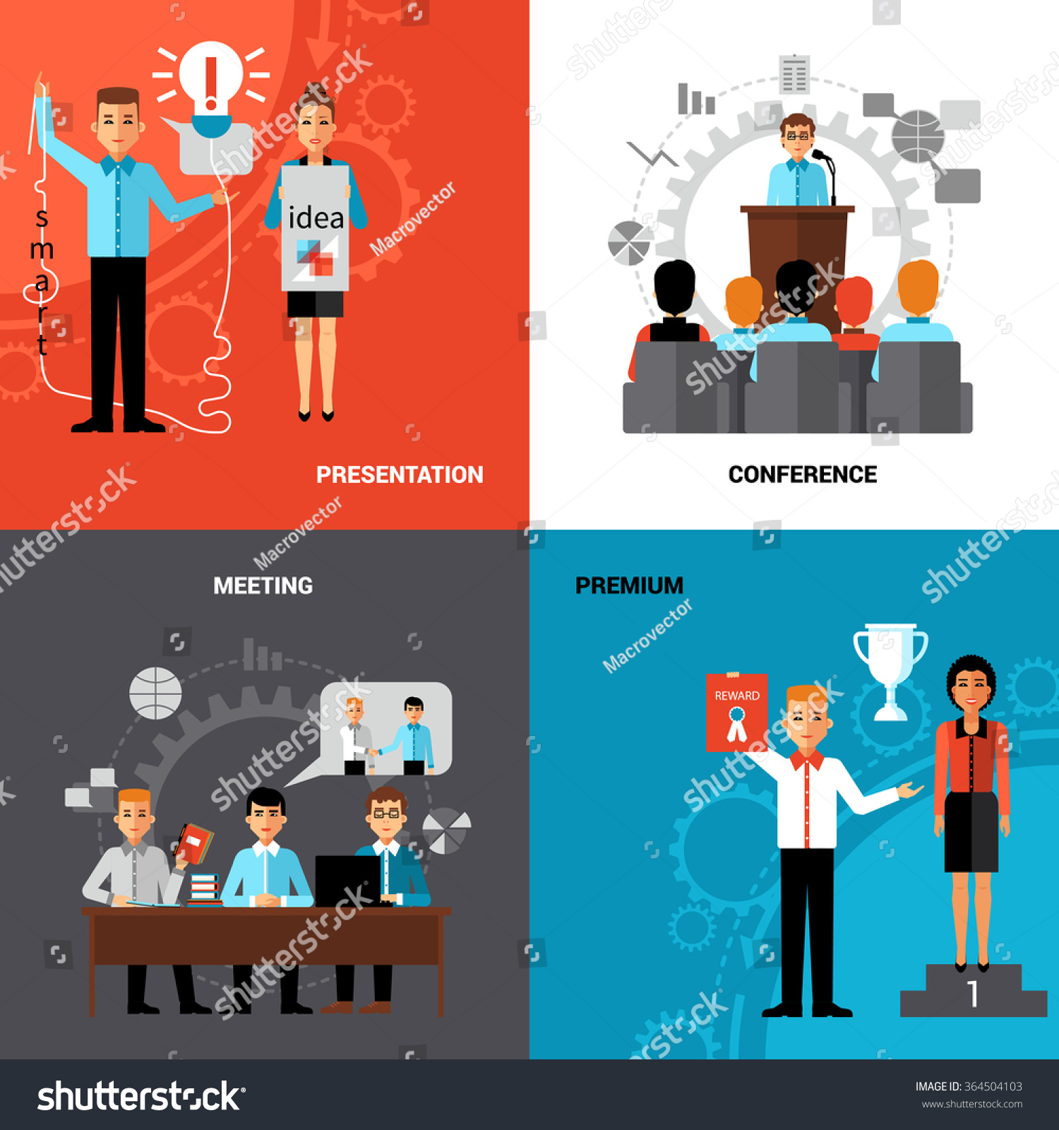 business innovative ideas promotion concept 4 stock vector 364504103
