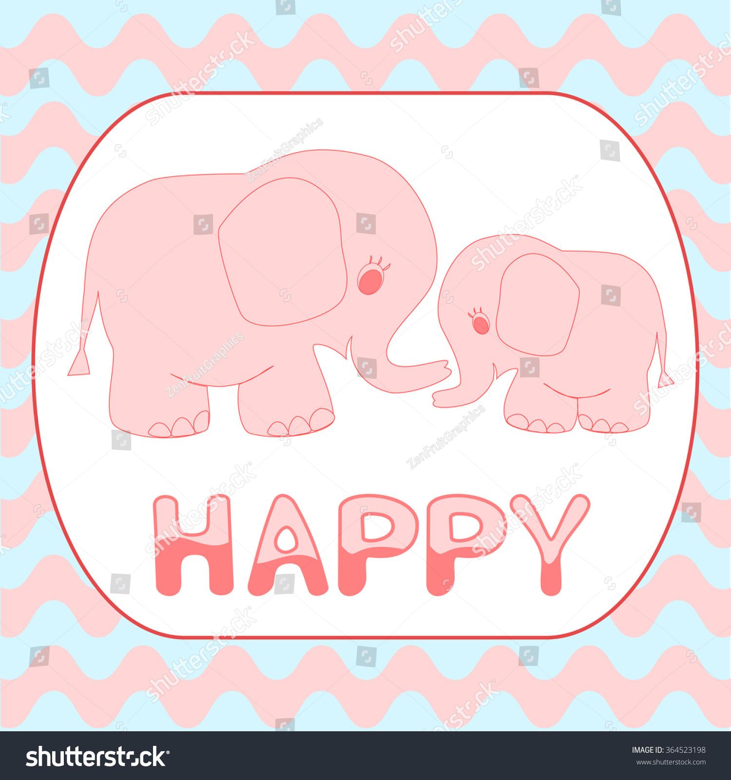 baby shower invitation card cartoon pink stock vector royalty free