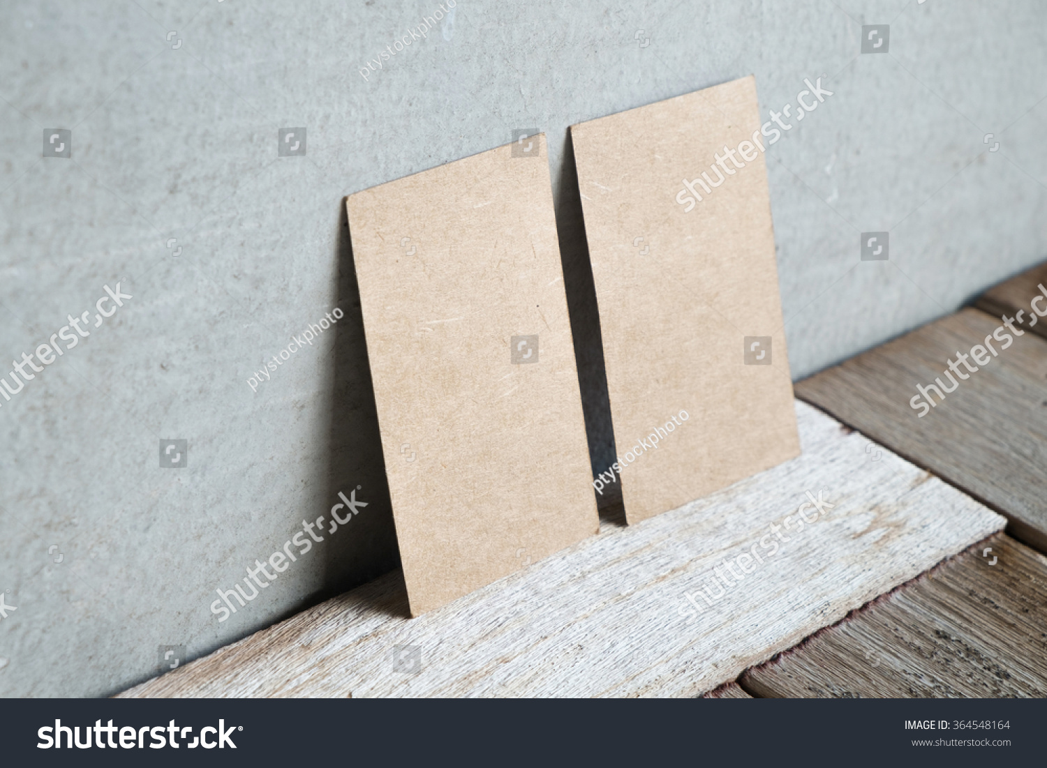 Recycled Paper Business Cards Mock On Stock Photo (Edit Now ...