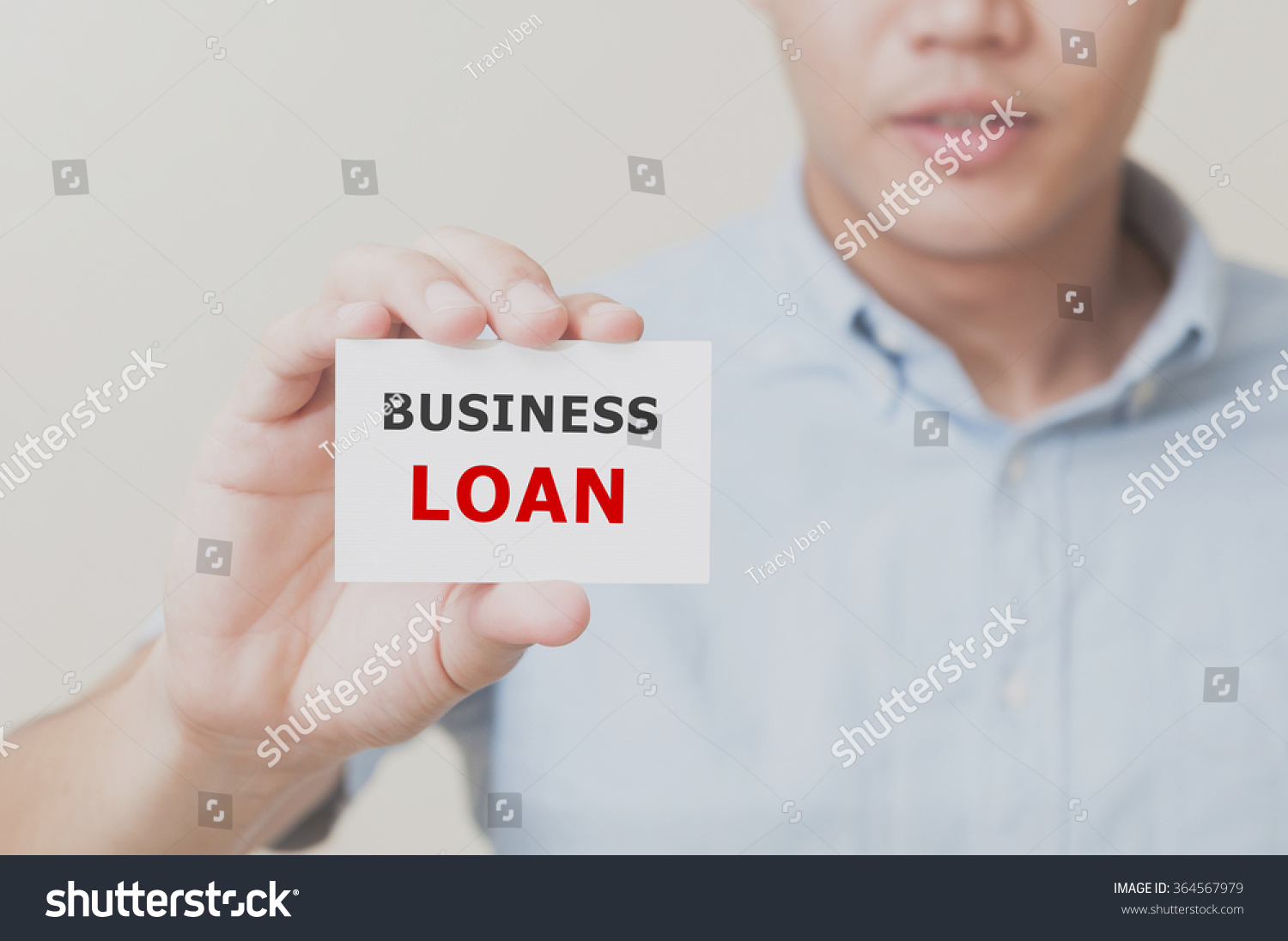Mans Hand Showing Business Loan On Stock Photo 364567979 ...