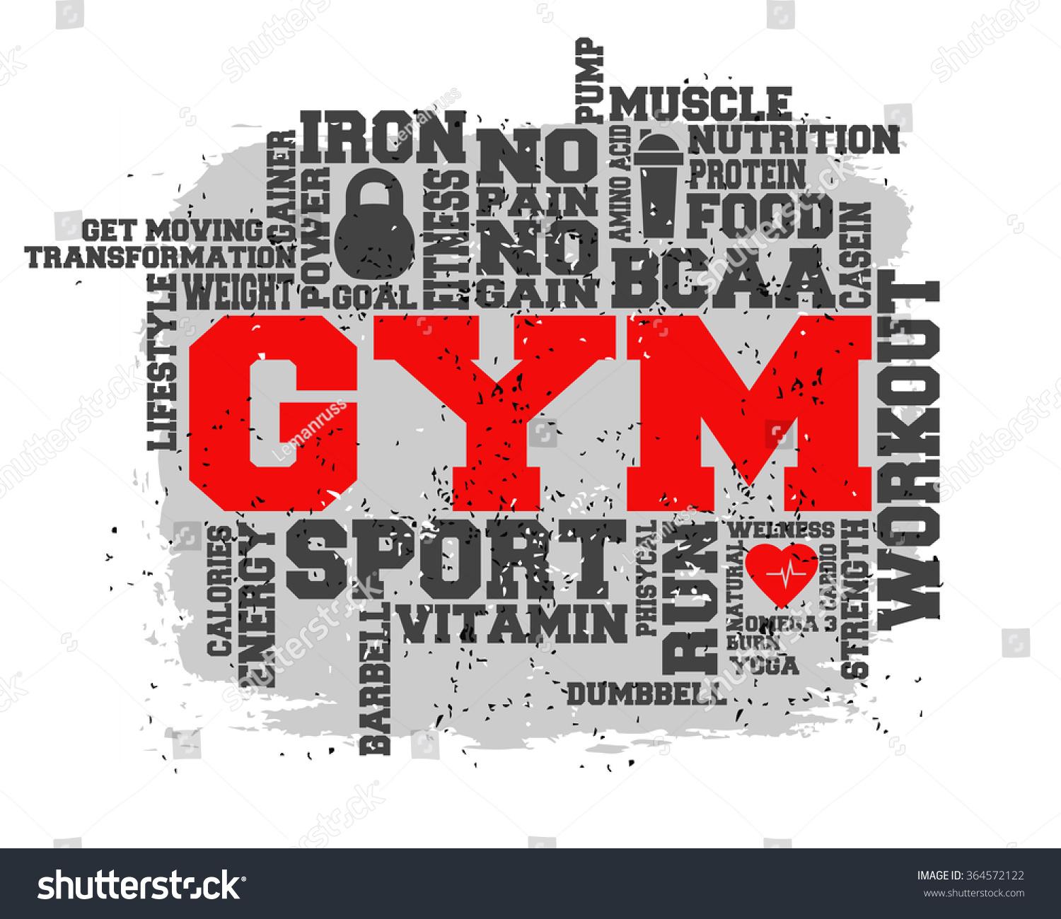 Poster design word - Fitness Sport Gym Run Lifestyle Health Concept Word And Icon Cloud