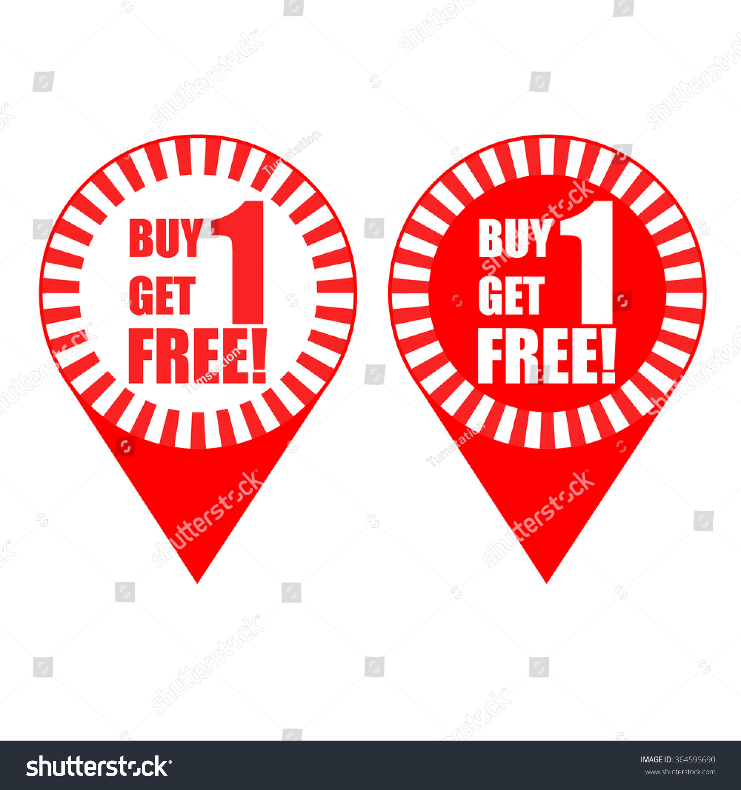 pin promotion vector buy 1 get stock vector 364595690 shutterstock pin promotion vector buy 1 get 1
