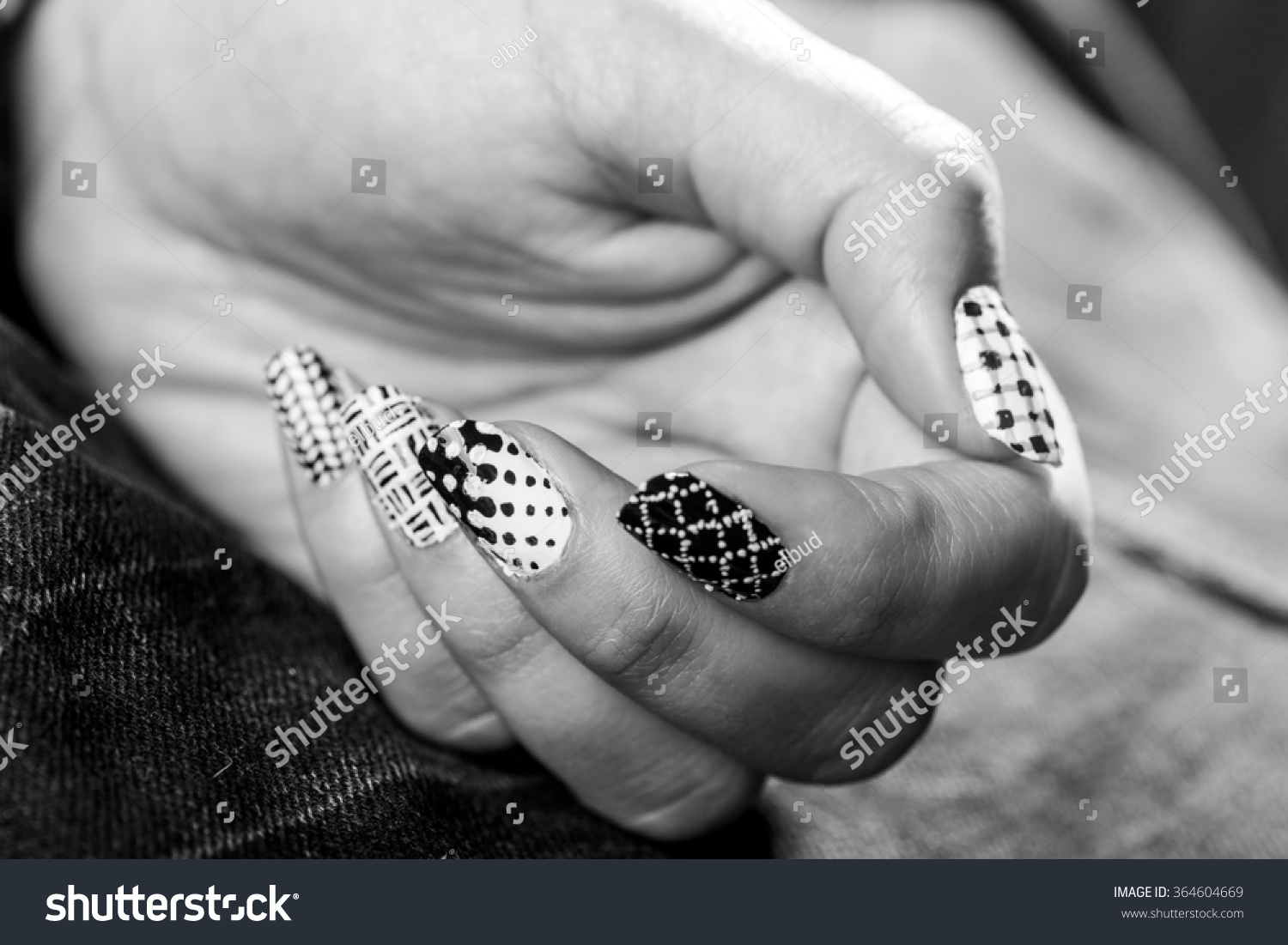 Macro View Womans Hand Fingernails Adorned Stock Photo (Royalty Free ...