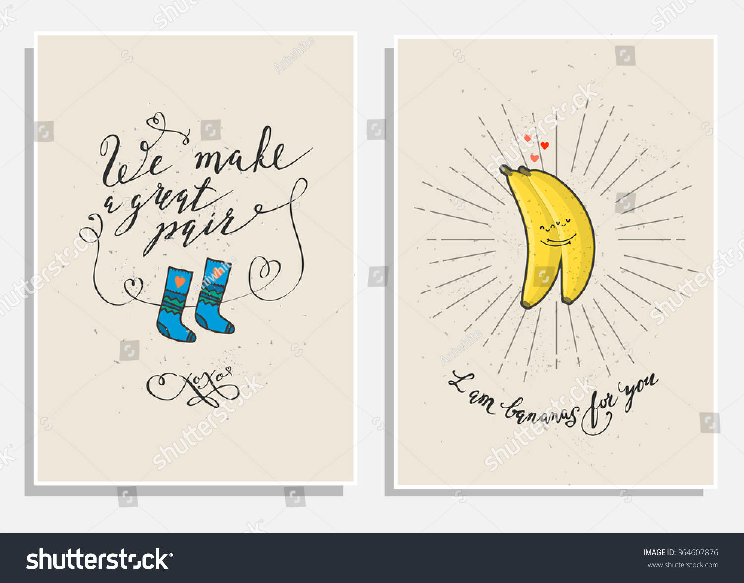 Funny Phrases About Love Hand Drawn Vector 364607876 – Phrases for Valentines Cards