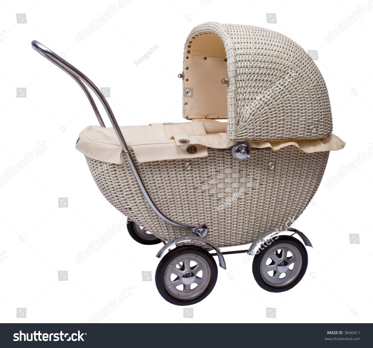 Vintage Toy Doll Buggy Isolated On Stock Photo 3646411