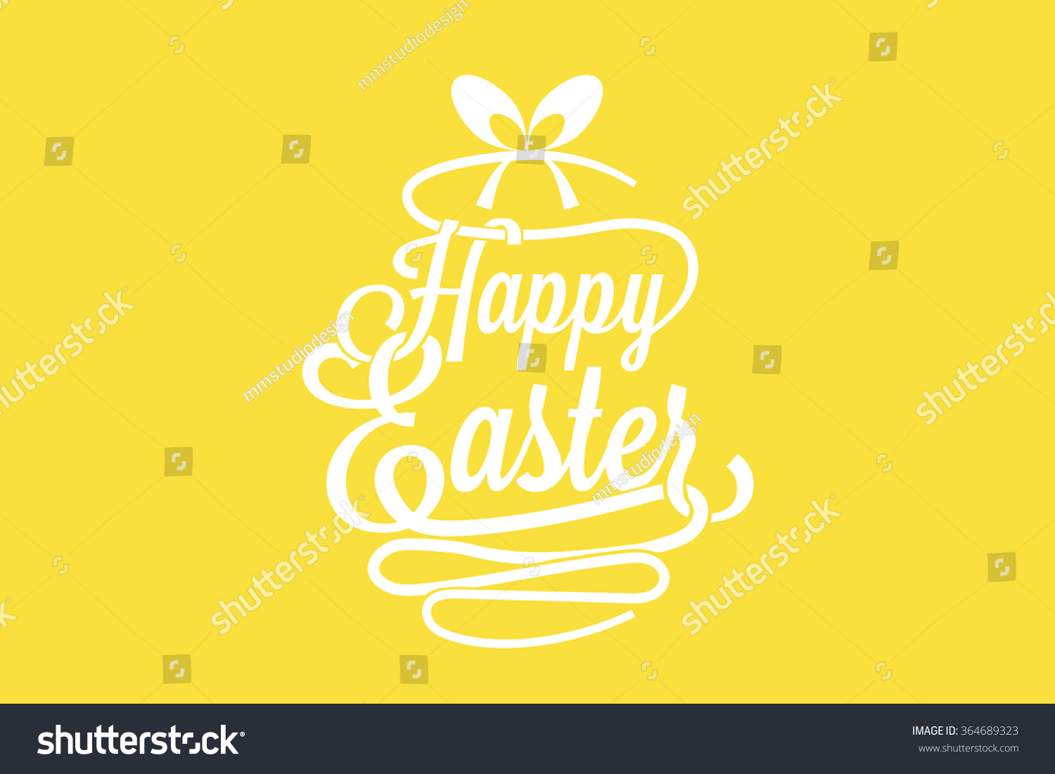 Happy Easter Greeting Card Calligraphic Words Stock Vector Hd