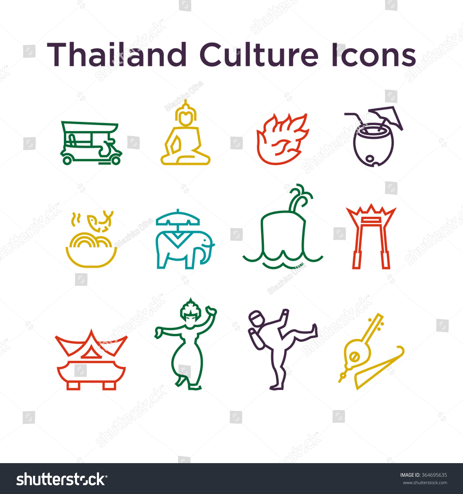 Thai Culture Icons Signs Of Thailand Traditions Life