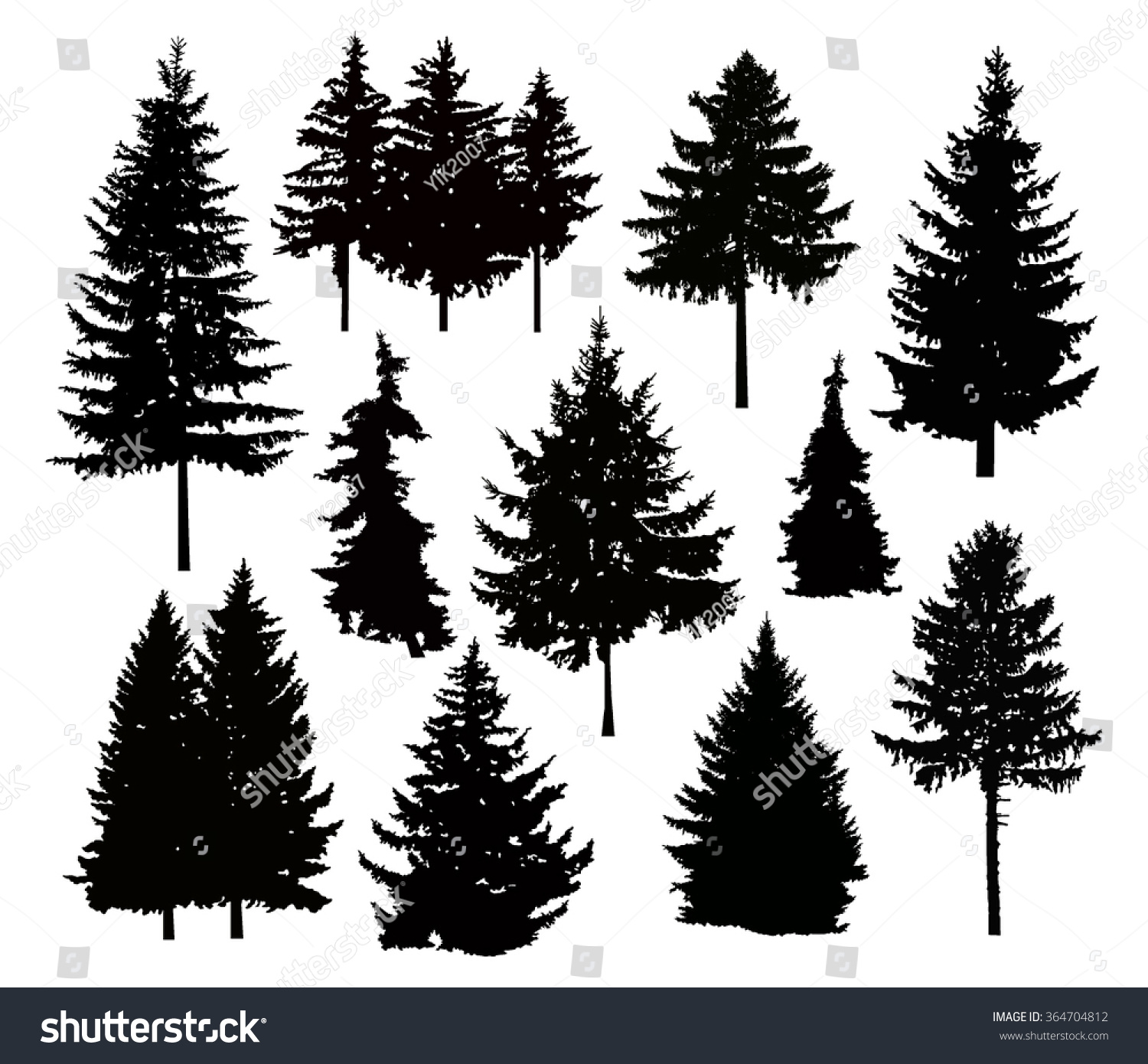 vector silhouette different pine trees can stock vector vector pine trees free vector pine tree images