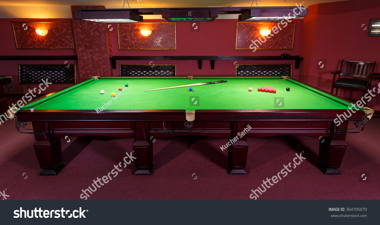 Setting Up A Pool Table Pool Table Set Game Front View Stock Photo 364705079 Shutterstock