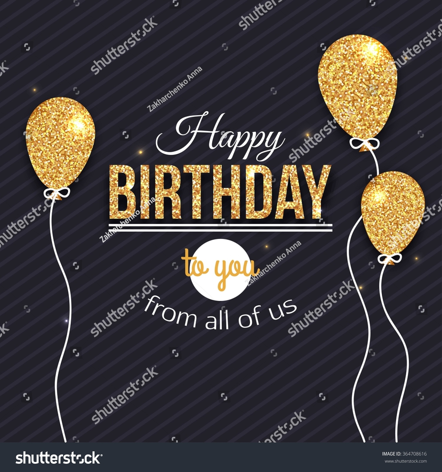 Happy Birthday Card Template Vector Eps Stock Vector (2018 ...
