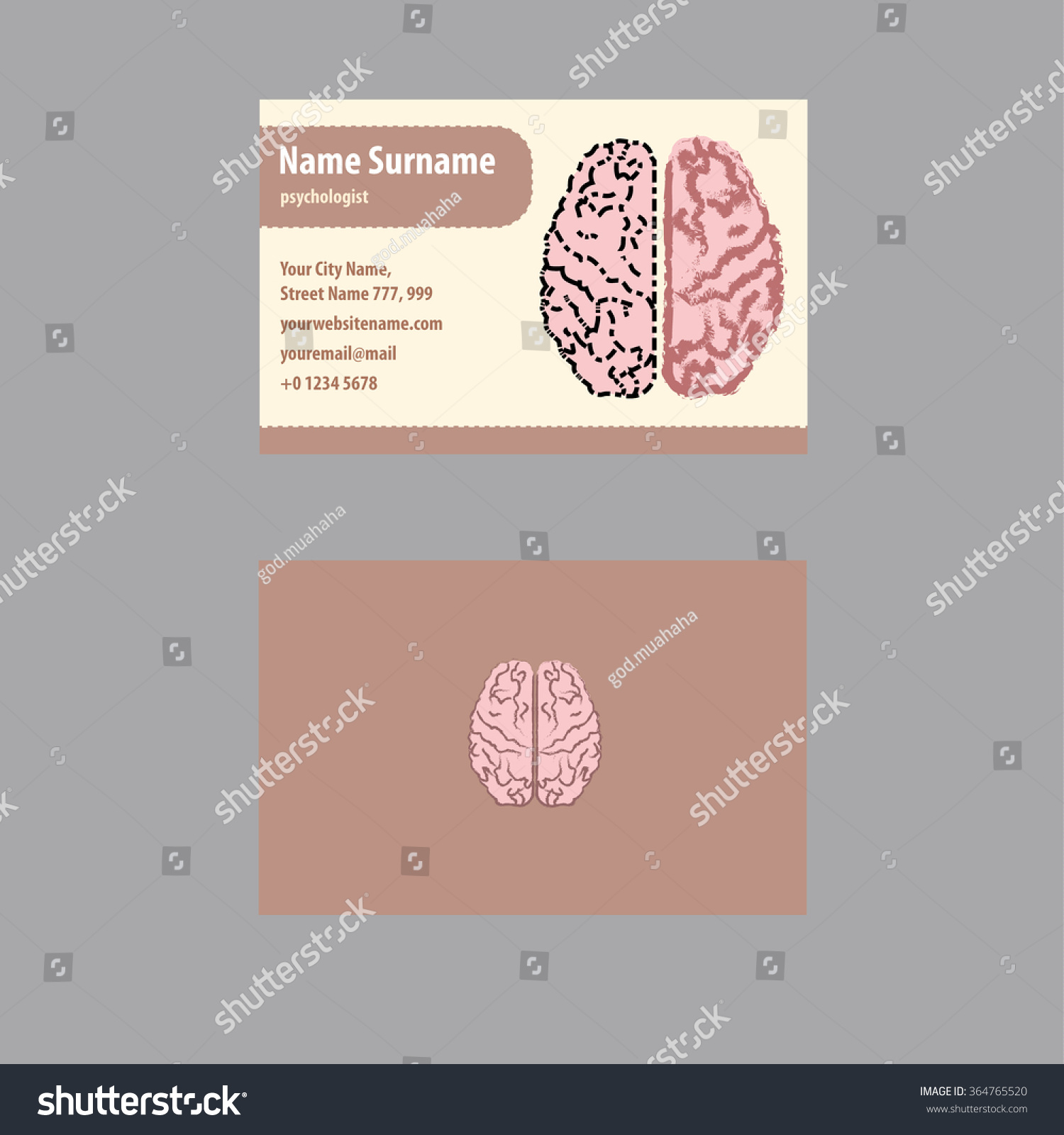 Business Card Psychologist Psychiatrist Stock Vector HD (Royalty ...