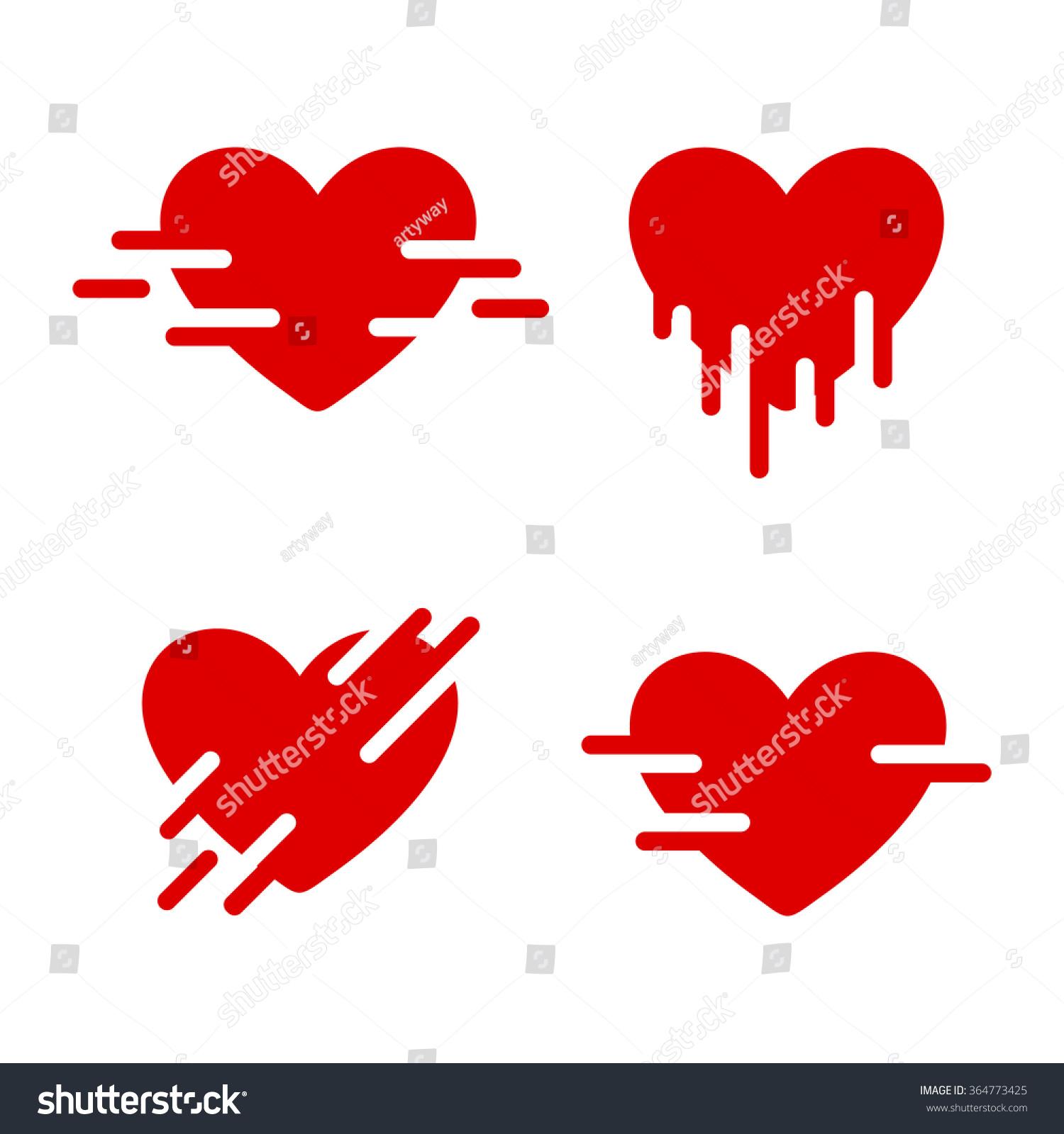 Red vector logo set collection love stock vector 364773425 red vector logo set collection of love images st valentines day symbols buycottarizona