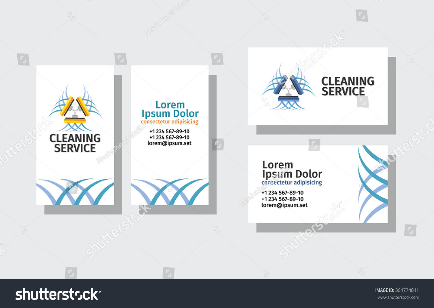 Set business cards cleaning service stock vector 364774841 set of business cards for cleaning service magicingreecefo Gallery