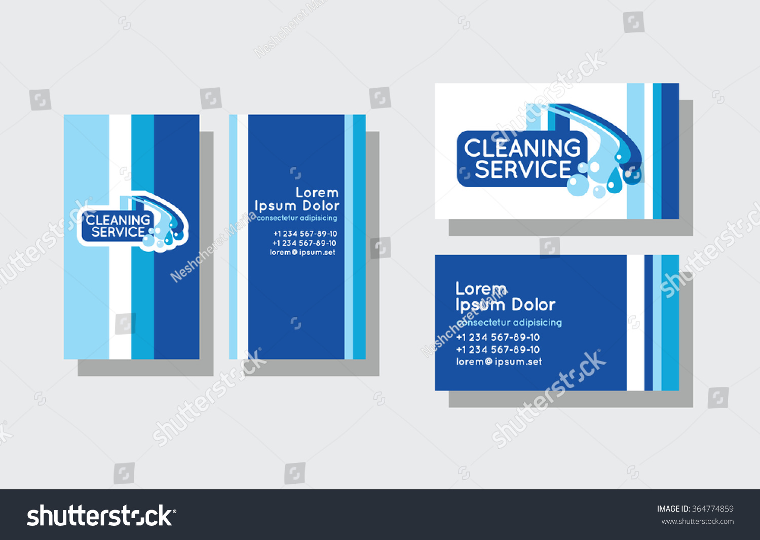 Set business cards cleaning service stock vector 364774859 set of business cards for cleaning service magicingreecefo Gallery