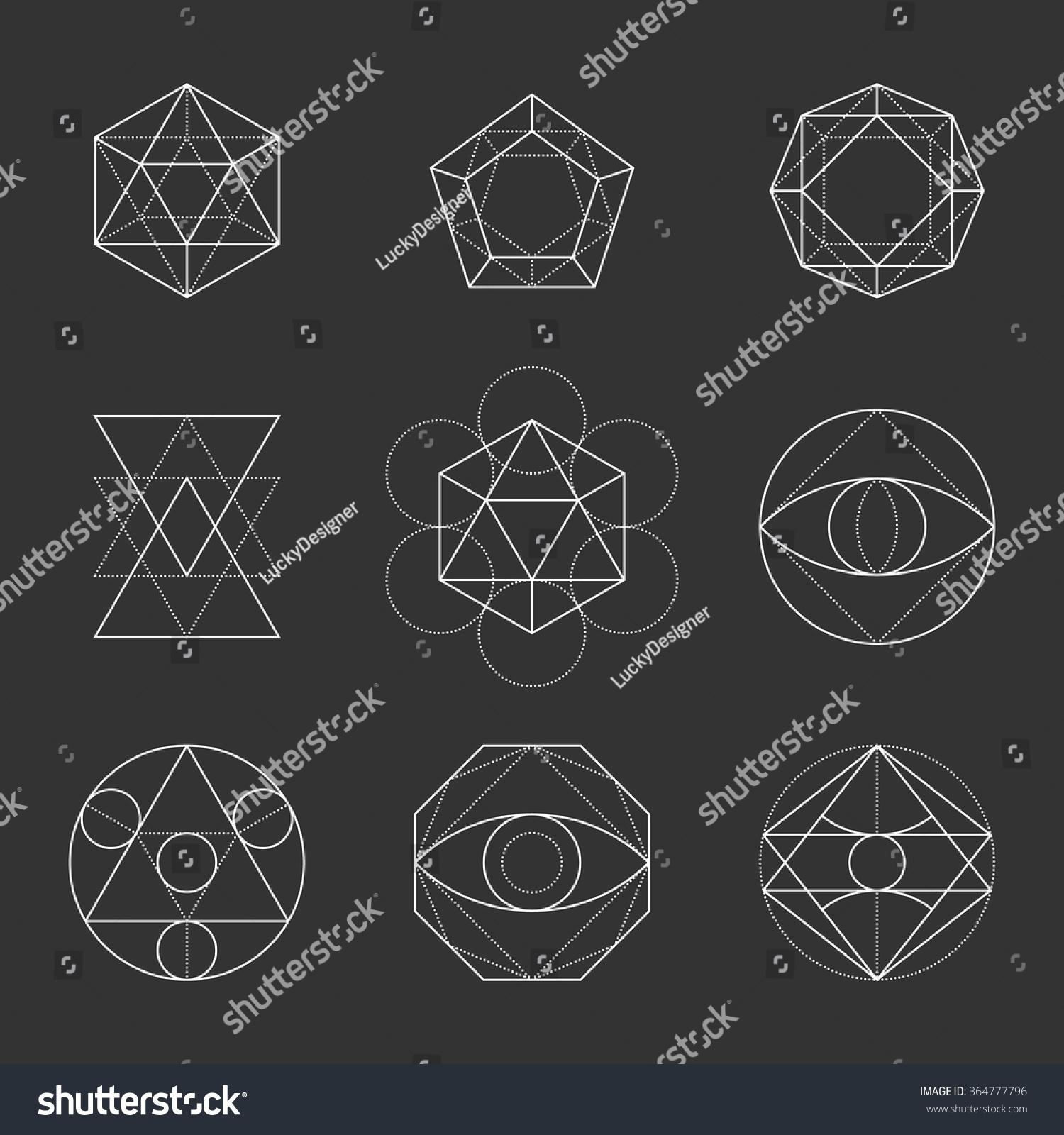 Sacred Geometry Shapes Spirituality Alchemy Religion 364777796 on Geometri Shapes English