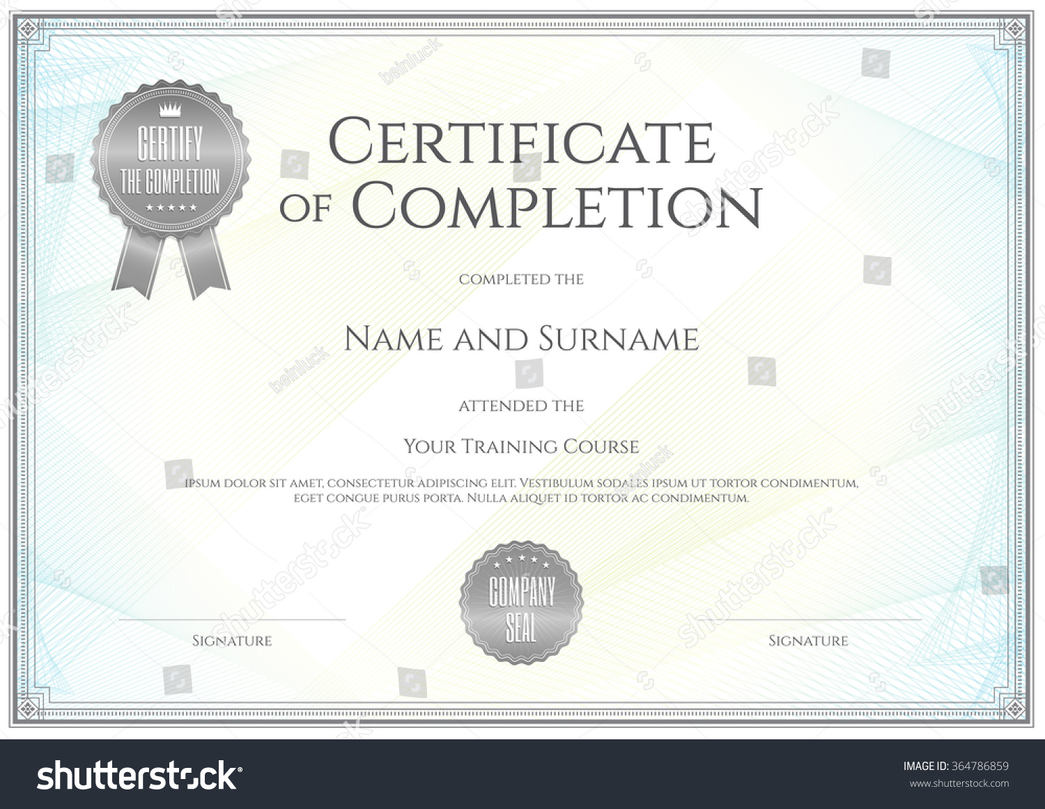 Certificate template vector achievement graduation completion certificate template in vector for achievement graduation completion xflitez Gallery